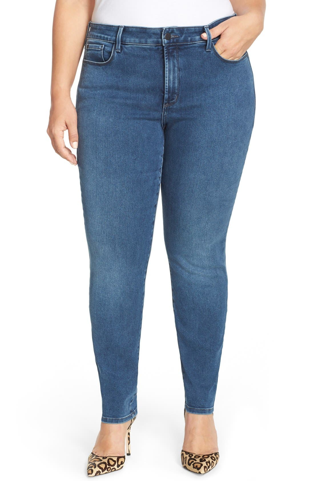 NYDJ, 'Alina' Stretch Skinny Jeans, Main thumbnail 1, color, 461