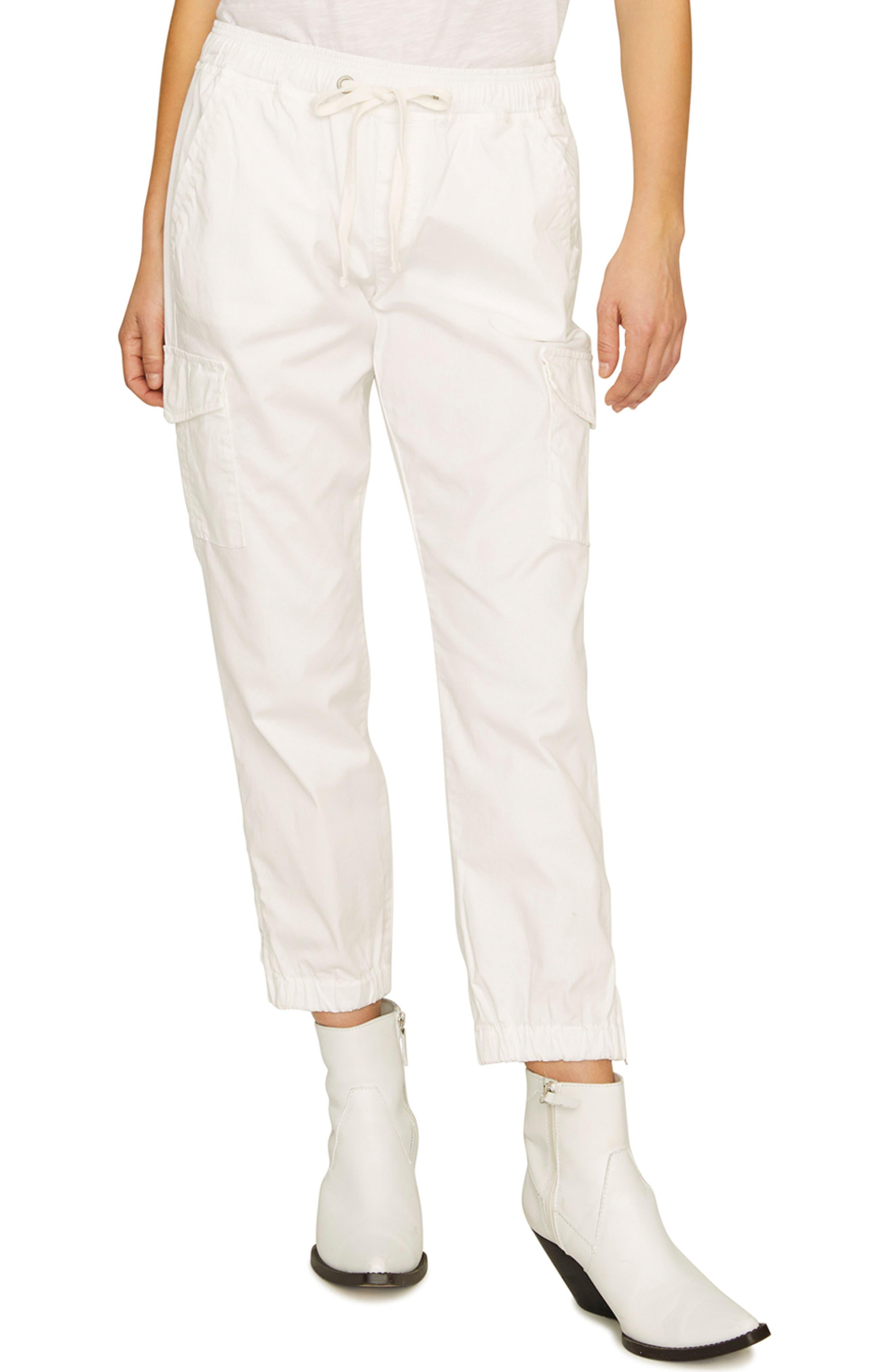 SANCTUARY, Drawstring Trooper Pants, Main thumbnail 1, color, BRITE WHITE