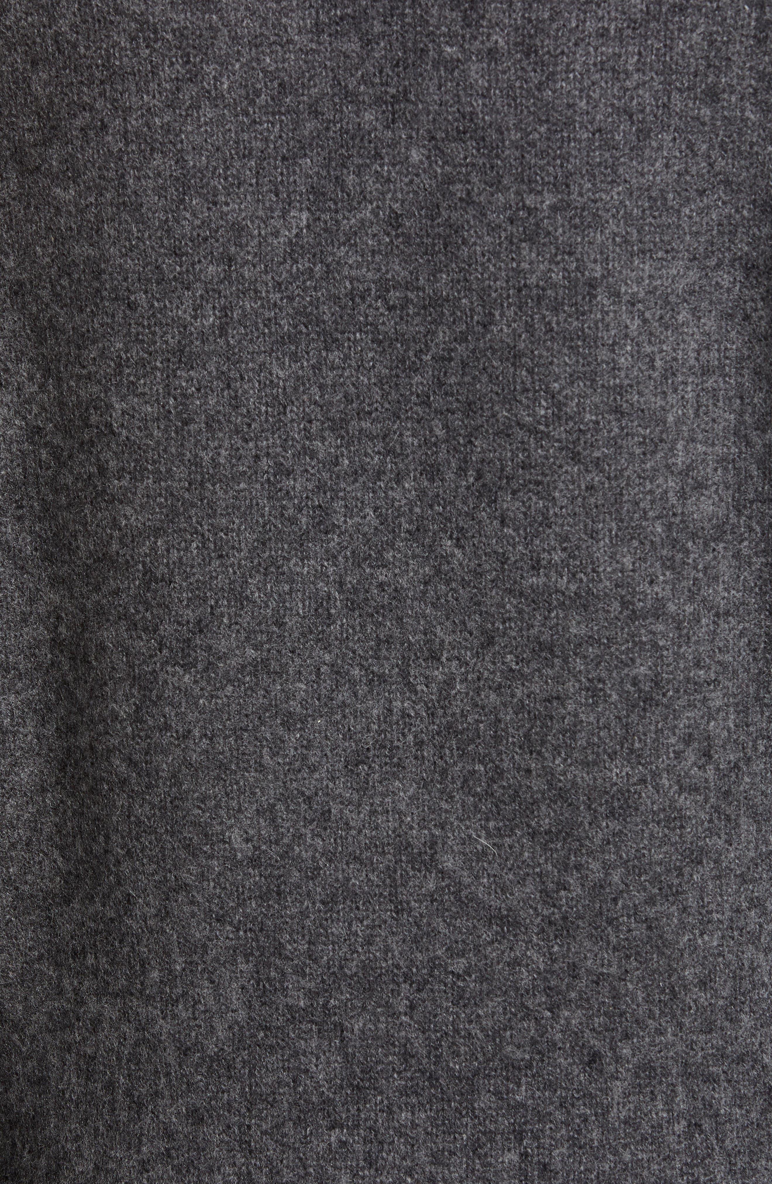 JAMES PERSE, Colorblock Cashmere Cardigan, Alternate thumbnail 5, color, CHARCOAL/ FLANNEL
