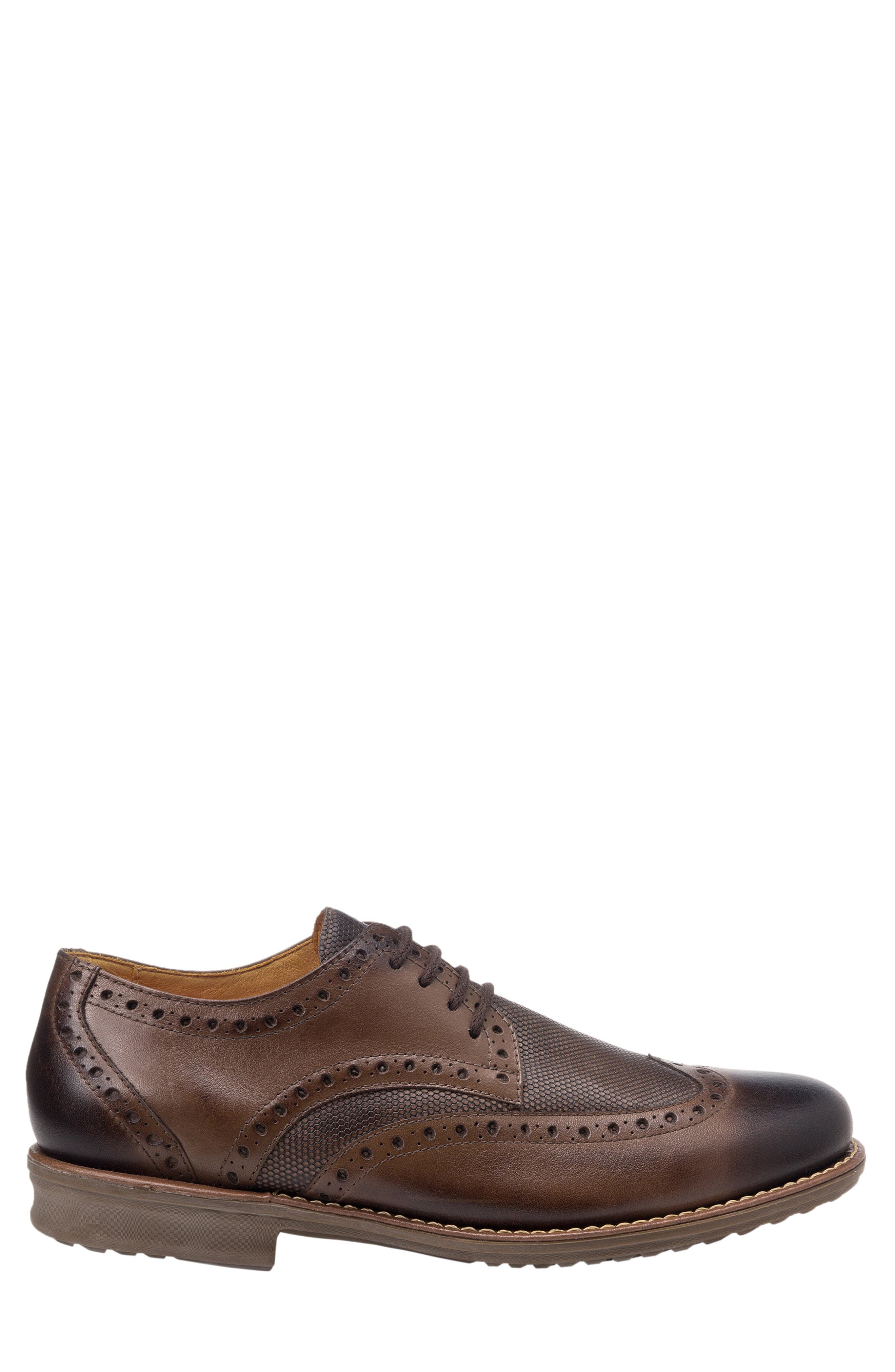 SANDRO MOSCOLONI, Martin Wingtip, Alternate thumbnail 3, color, BROWN LEATHER