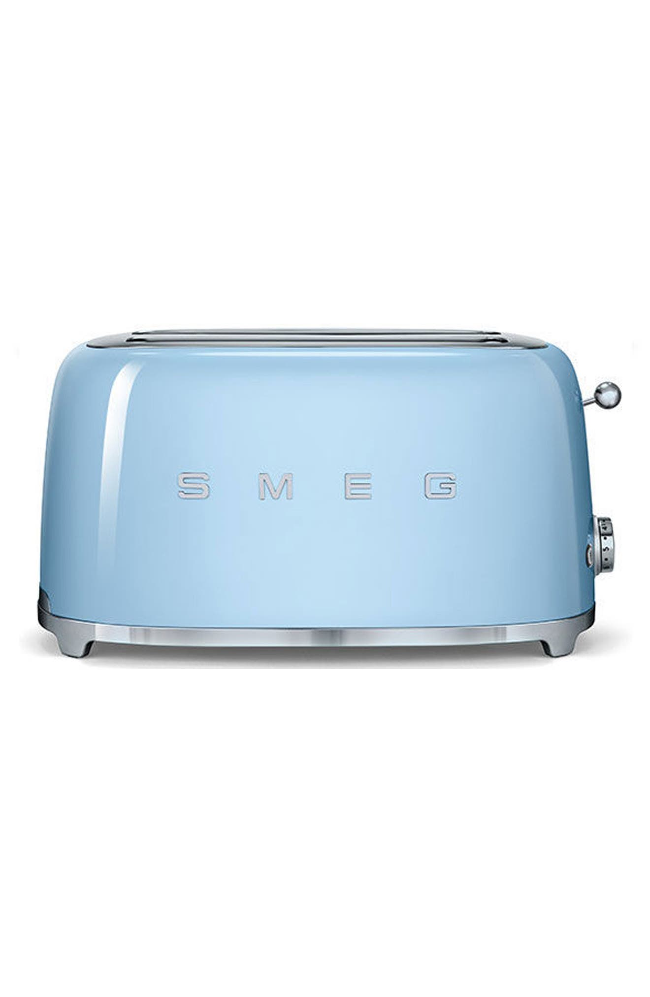 SMEG, 50s Retro Style Four-Slice Toaster, Main thumbnail 1, color, PASTEL BLUE
