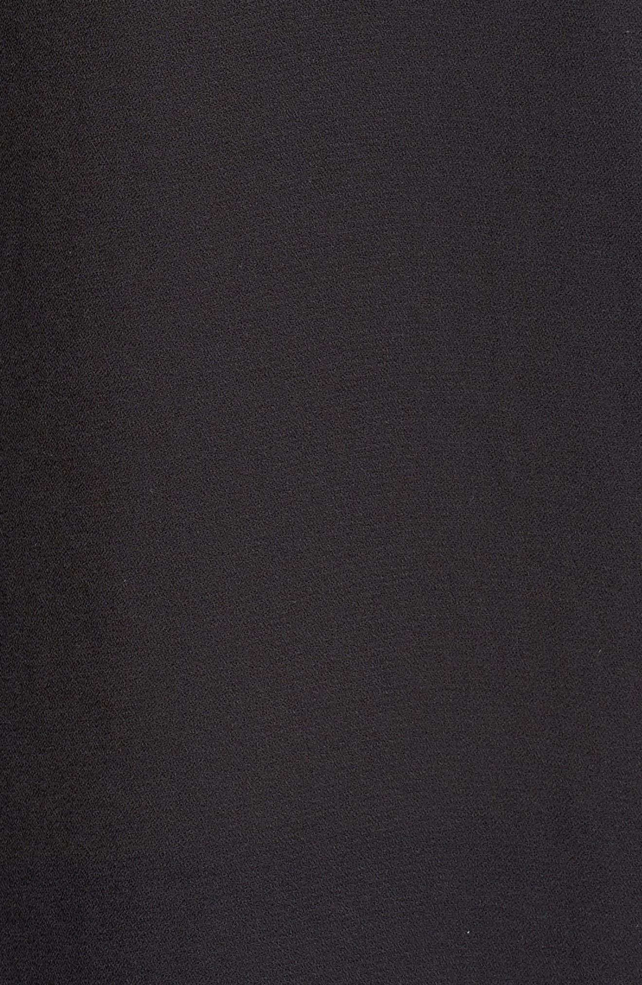 HALOGEN<SUP>®</SUP>, Lace Yoke Blouse, Alternate thumbnail 5, color, 001
