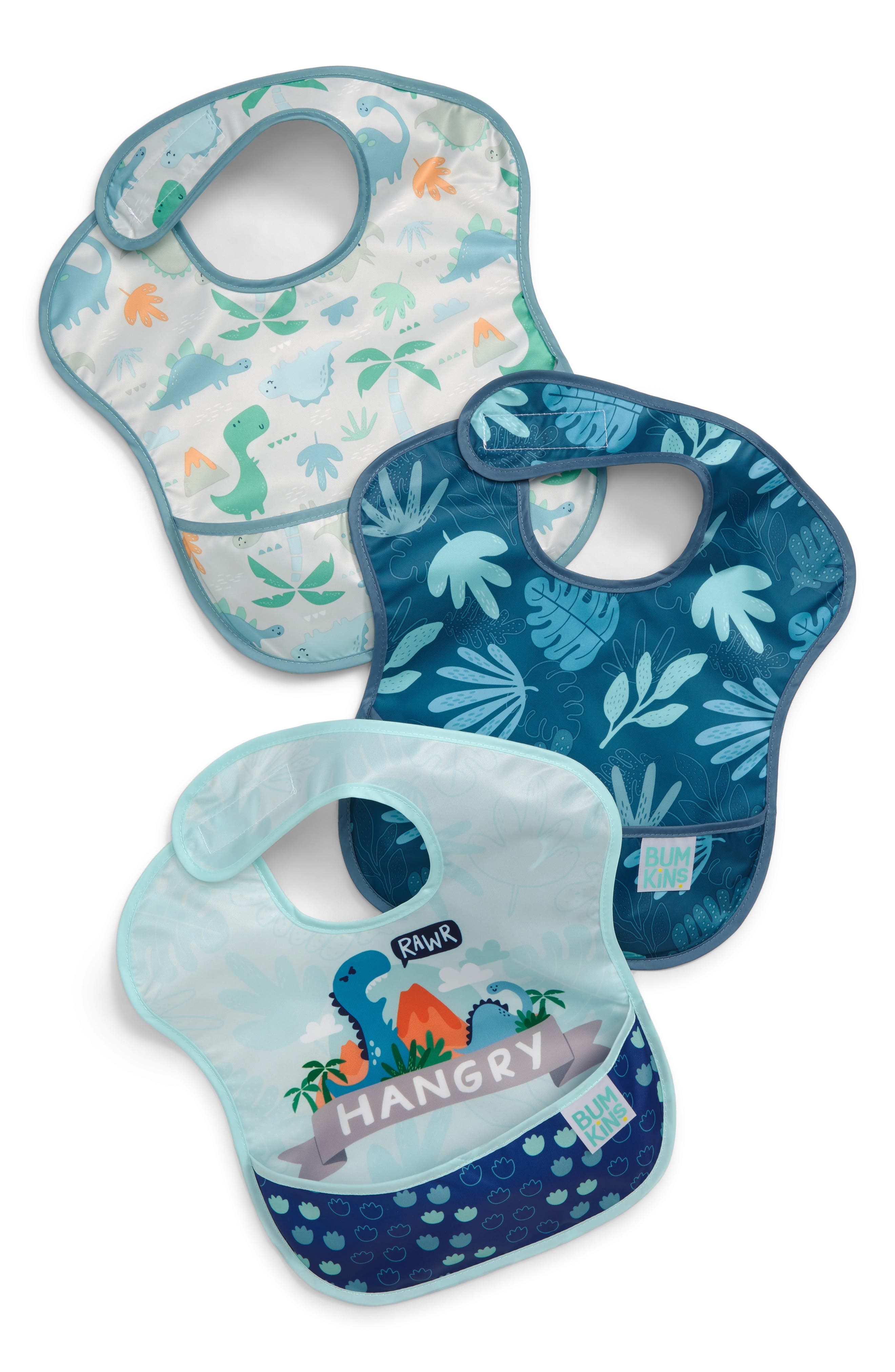 Infant Boys Bumkins 3Pack Superbib Set Size One Size  Blue