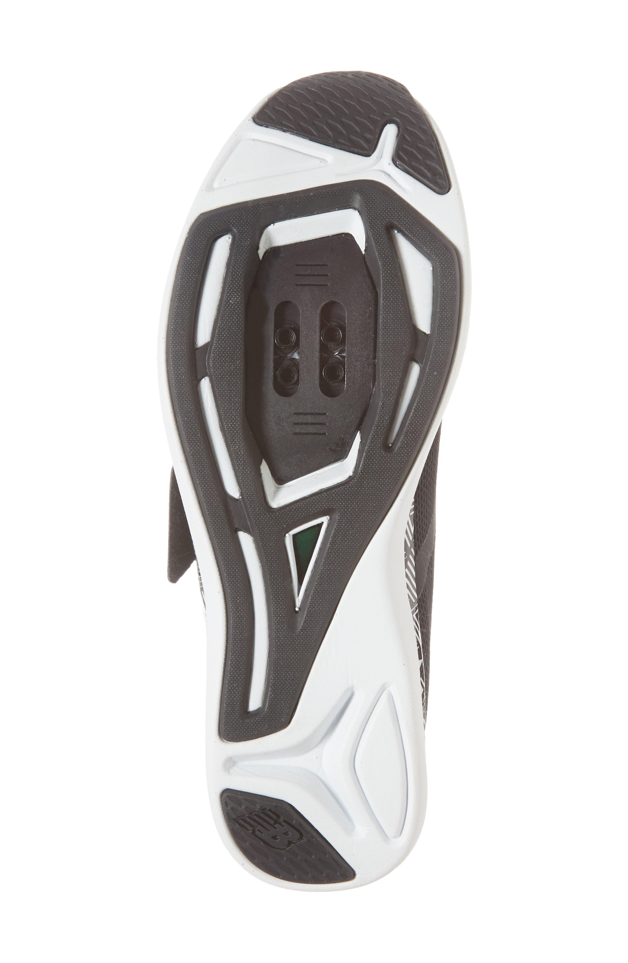 NEW BALANCE, Spin 09 Cycling Shoe, Alternate thumbnail 6, color, BLACK/ WHITE