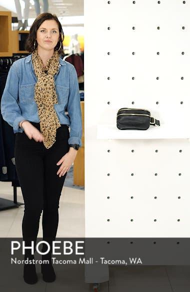 Cadee Faux Leather Belt Bag, sales video thumbnail