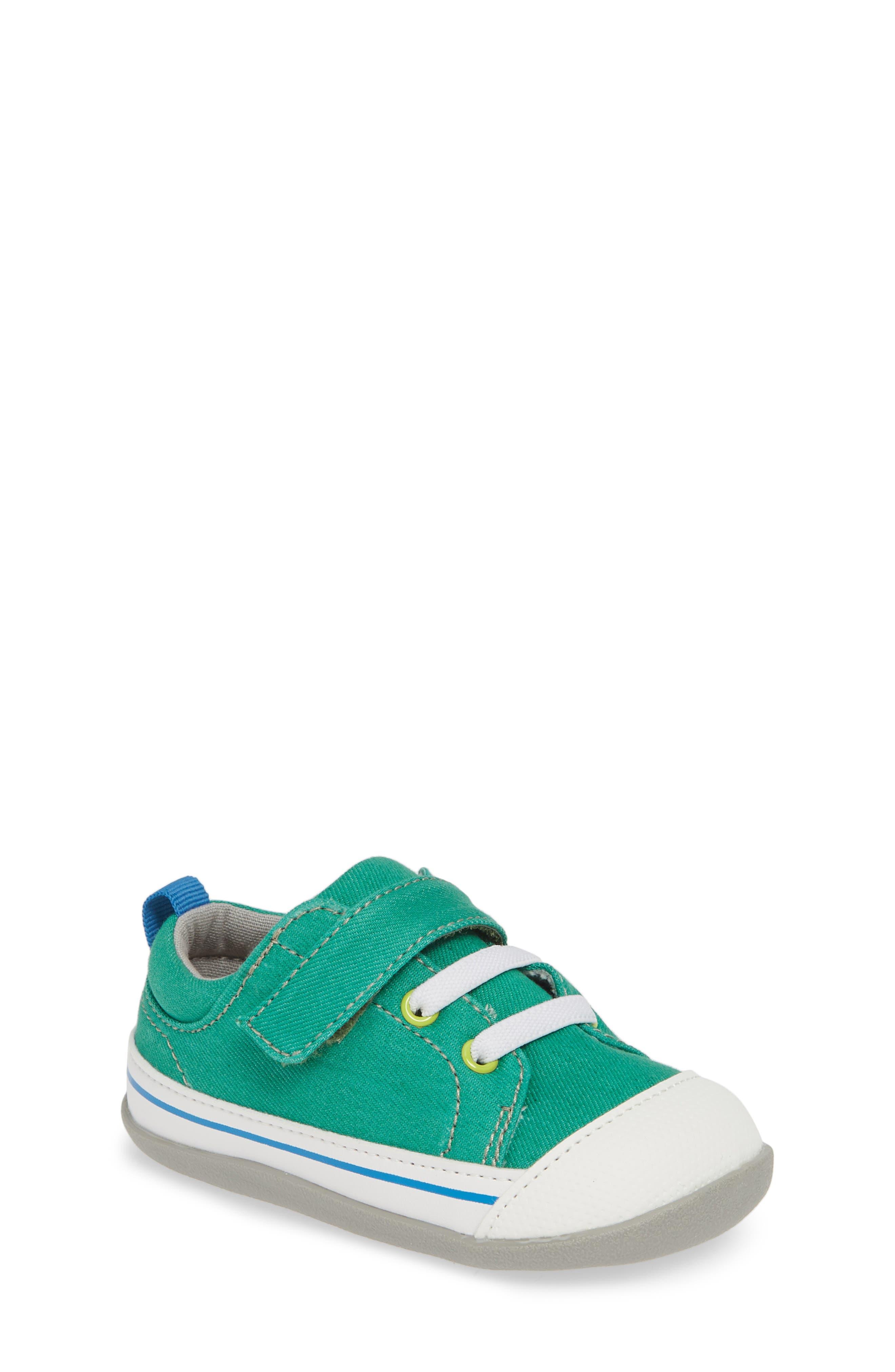 SEE KAI RUN, Stevie II Sneaker, Main thumbnail 1, color, GREEN/ GREEN DENIM