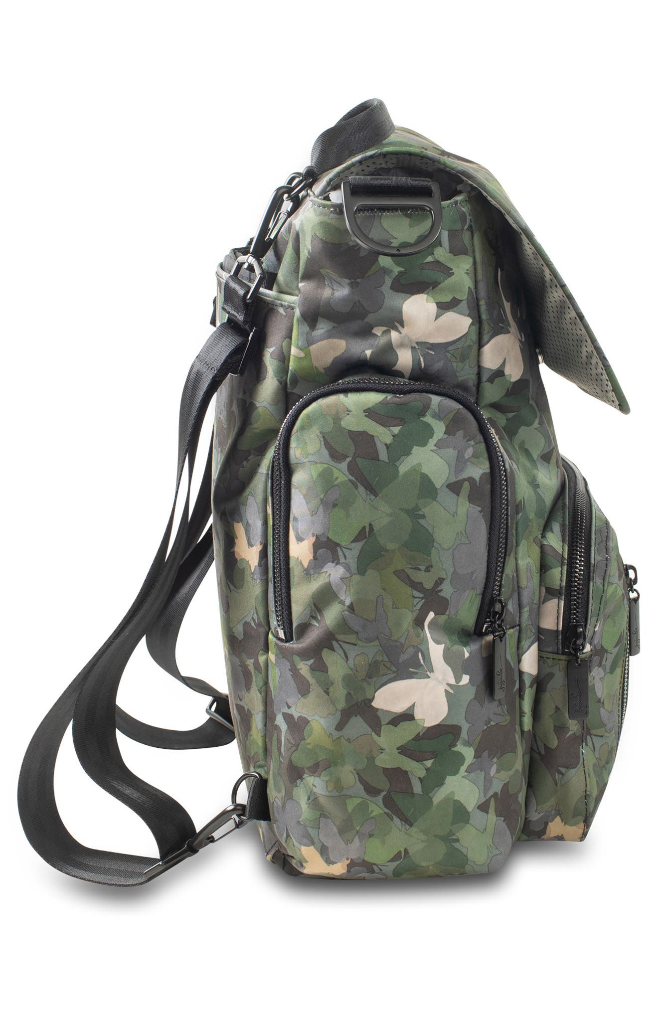JU-JU-BE, Onyx Be Sporty Diaper Backpack, Alternate thumbnail 3, color, BUTTERFLY FOREST