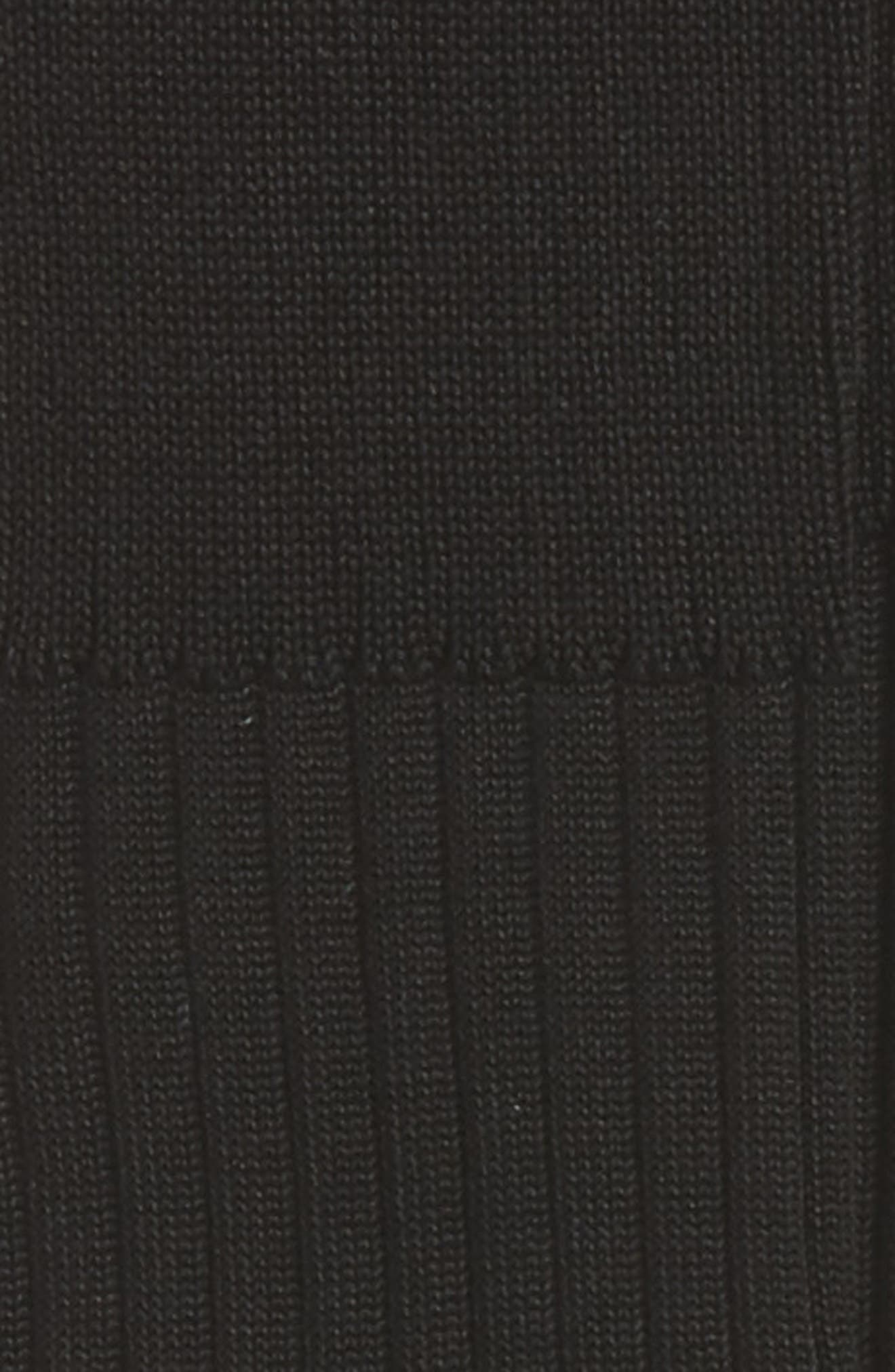 NORDSTROM MEN'S SHOP, Over the Calf Cotton Blend Socks, Alternate thumbnail 2, color, BLACK
