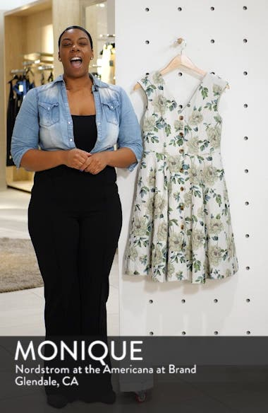 Lilly Button Detail Fit & Flare Dress, sales video thumbnail
