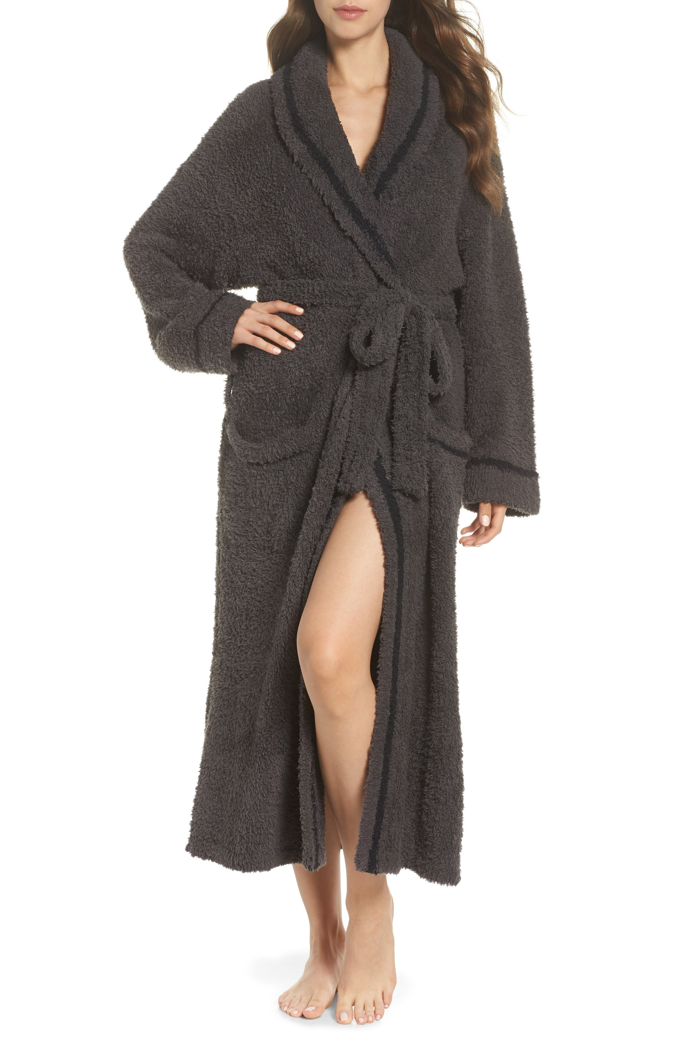 BAREFOOT DREAMS<SUP>®</SUP> x Disney Classic Series CozyChic<sup>®</sup> Robe, Main, color, CARBON/ BLACK