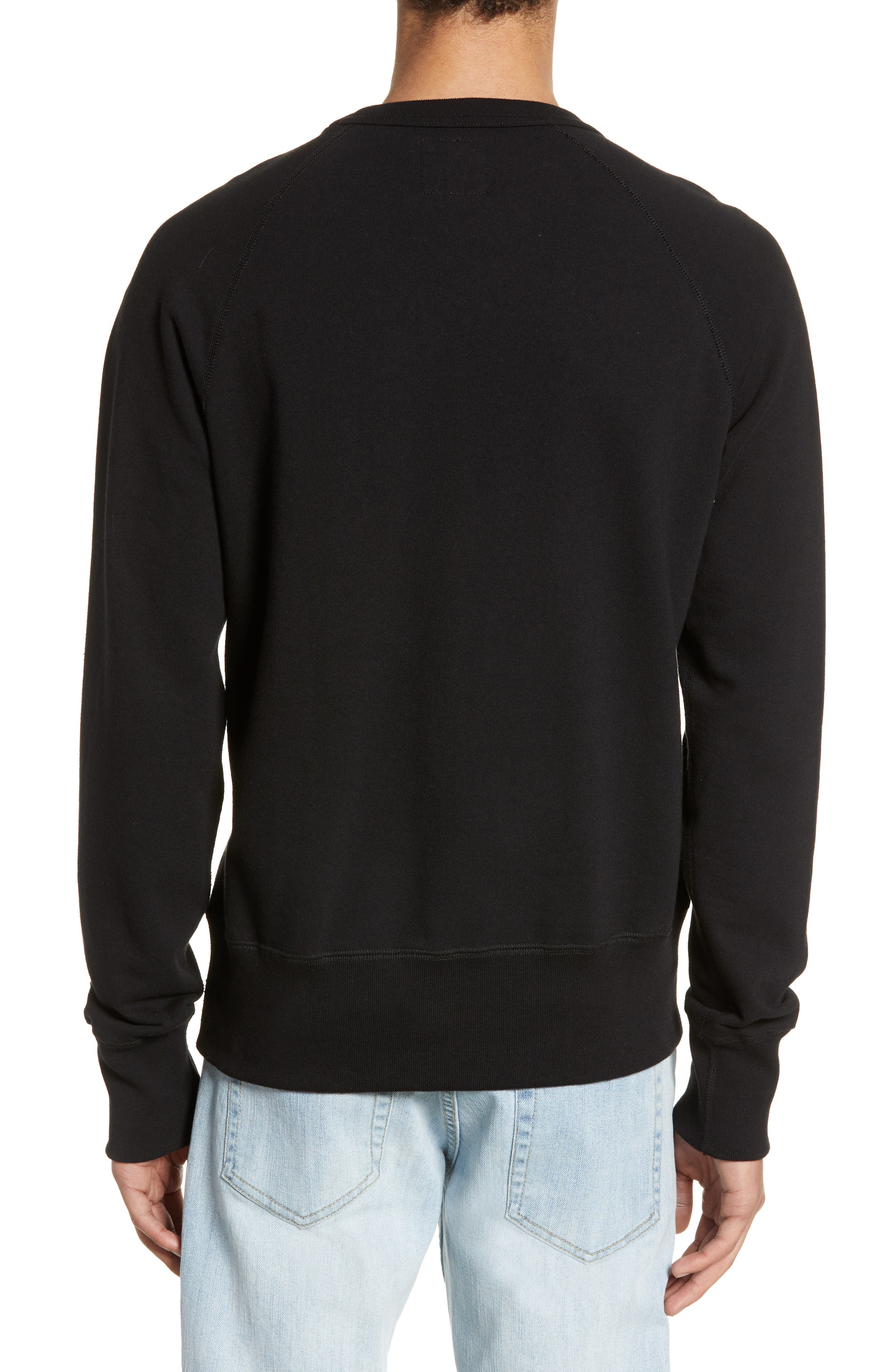 TODD SNYDER + CHAMPION, Todd Snyder Classic Pocket Sweatshirt, Alternate thumbnail 2, color, BLACK