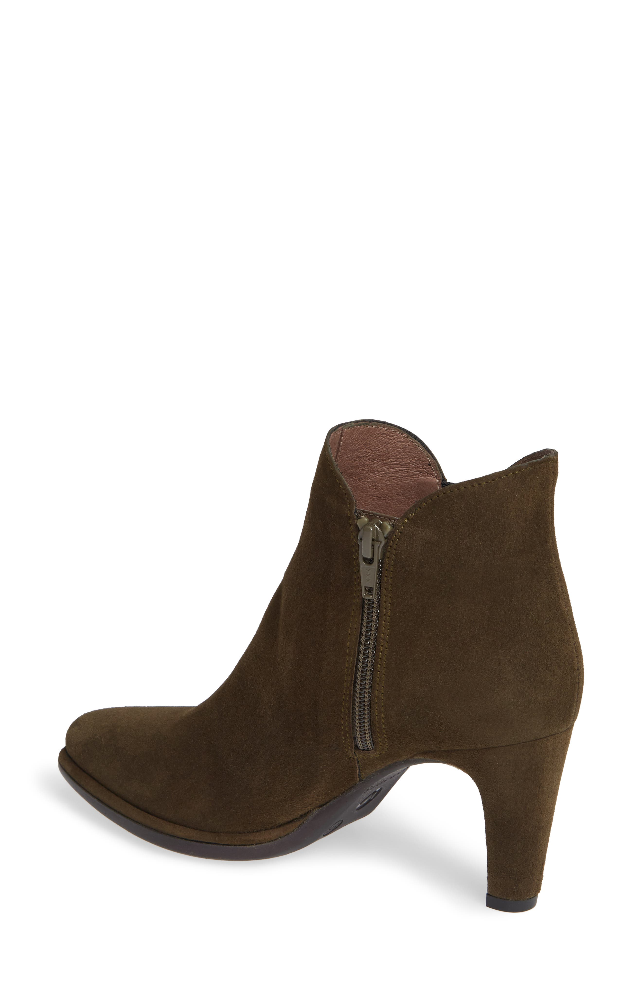 WONDERS, Chelsea Boot, Alternate thumbnail 2, color, MILITARY GREEN SUEDE