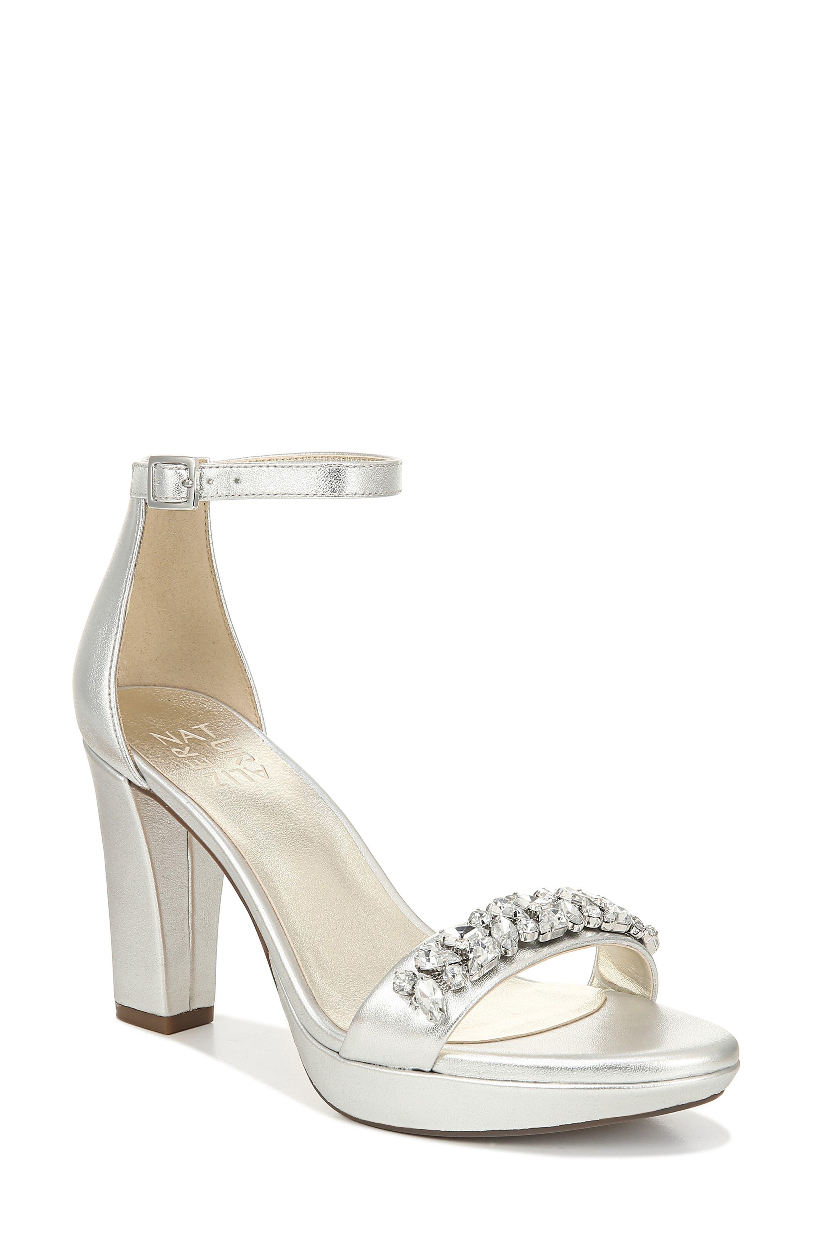 Naturalizer Cassano Crystal Embellished Sandal, Metallic