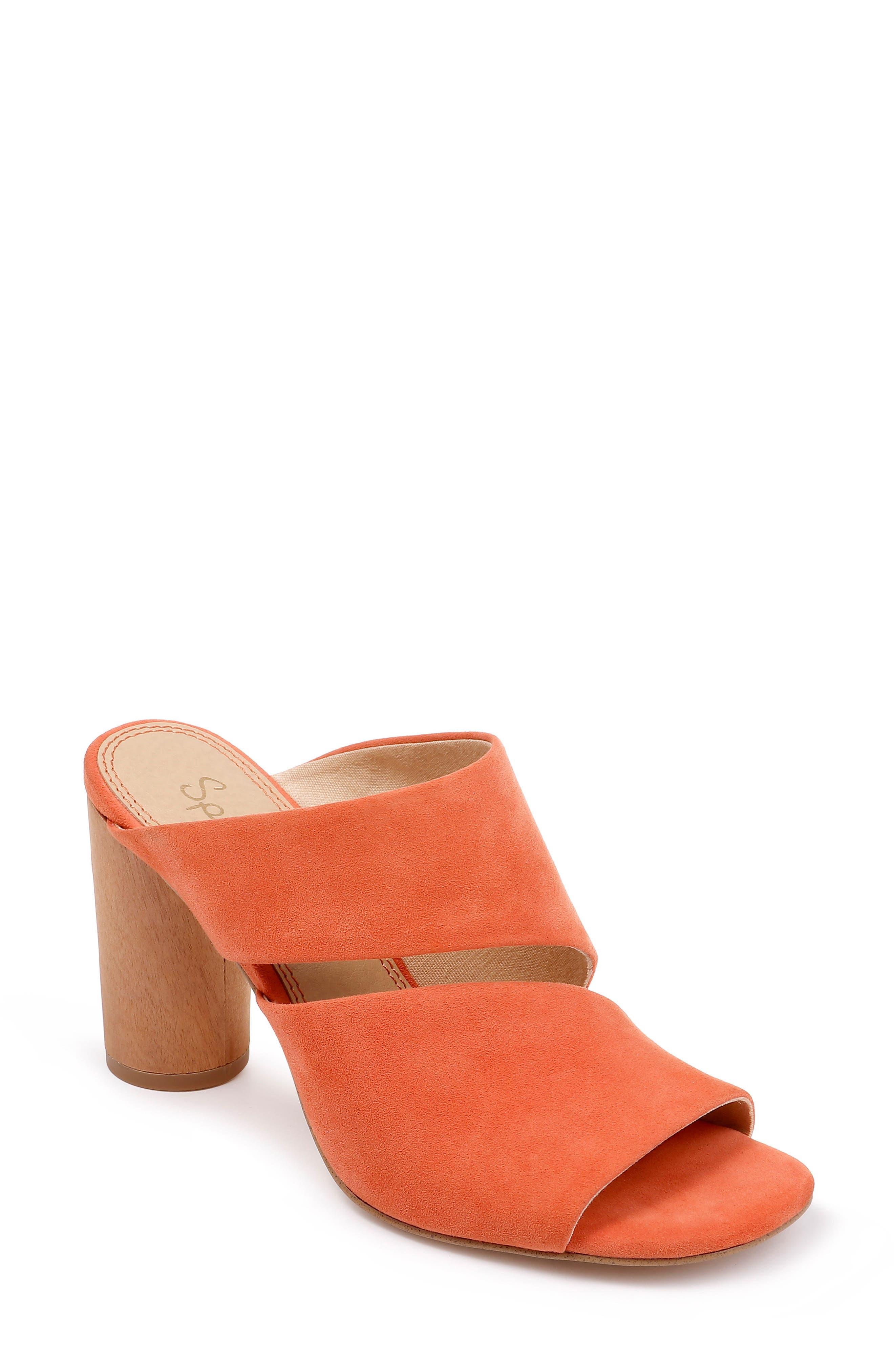 SPLENDID Serenade Sandal, Main, color, ORANGE SUEDE