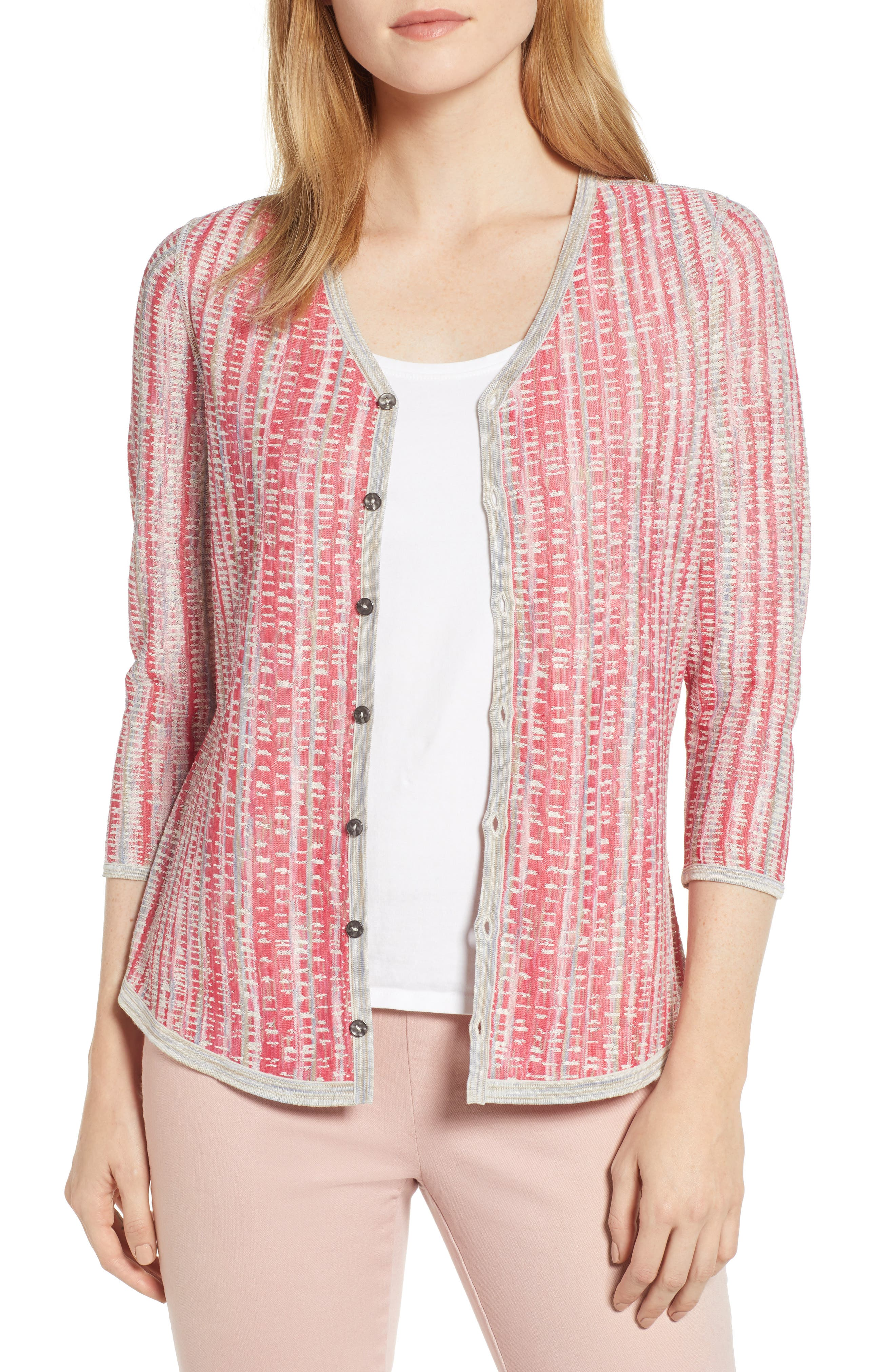 NIC+ZOE, Tubular Sunset Cardigan, Main thumbnail 1, color, MULTI