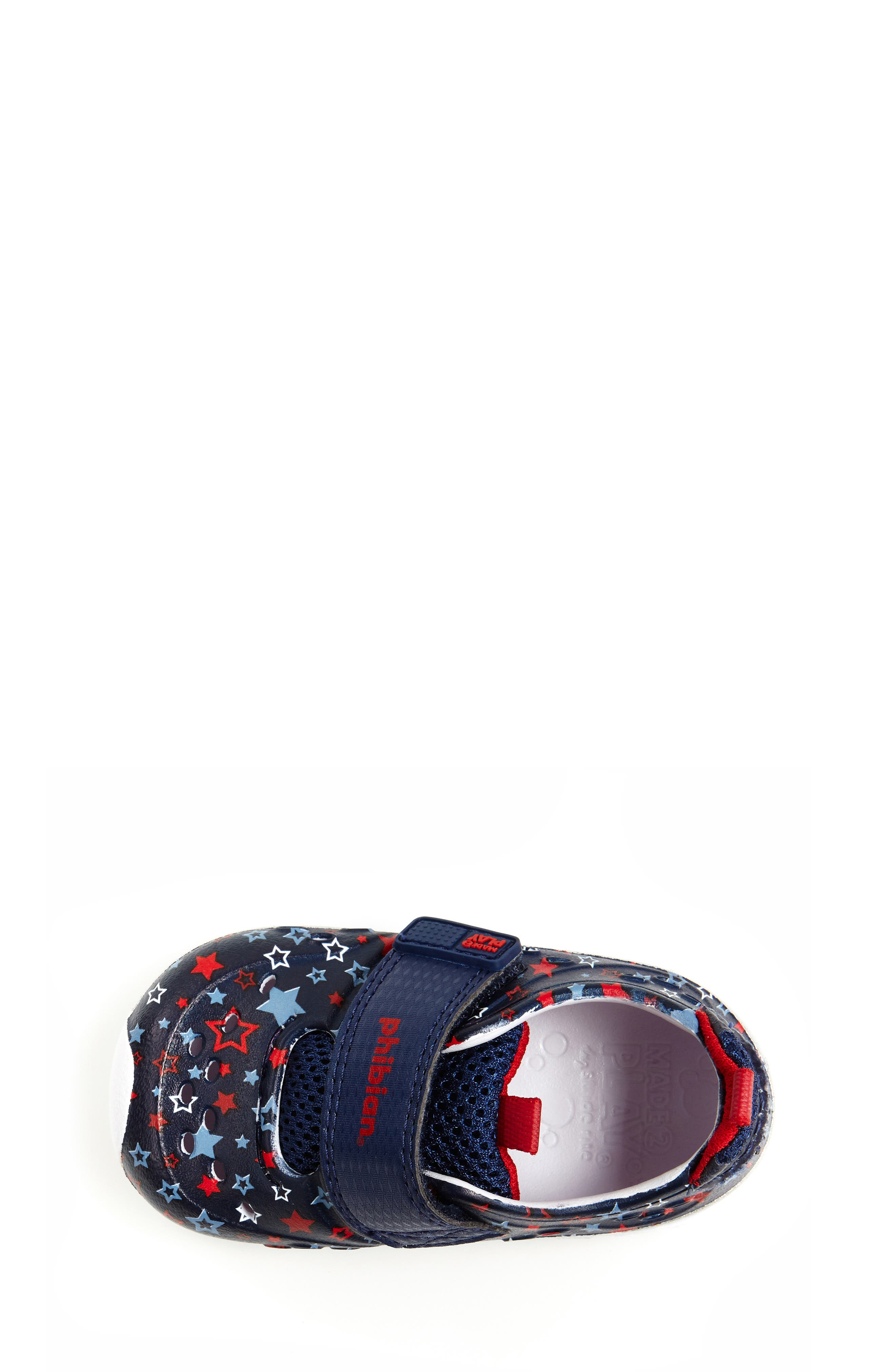 STRIDE RITE, Made2Play<sup>®</sup> Phibian Sneaker, Alternate thumbnail 5, color, NAVY STAR