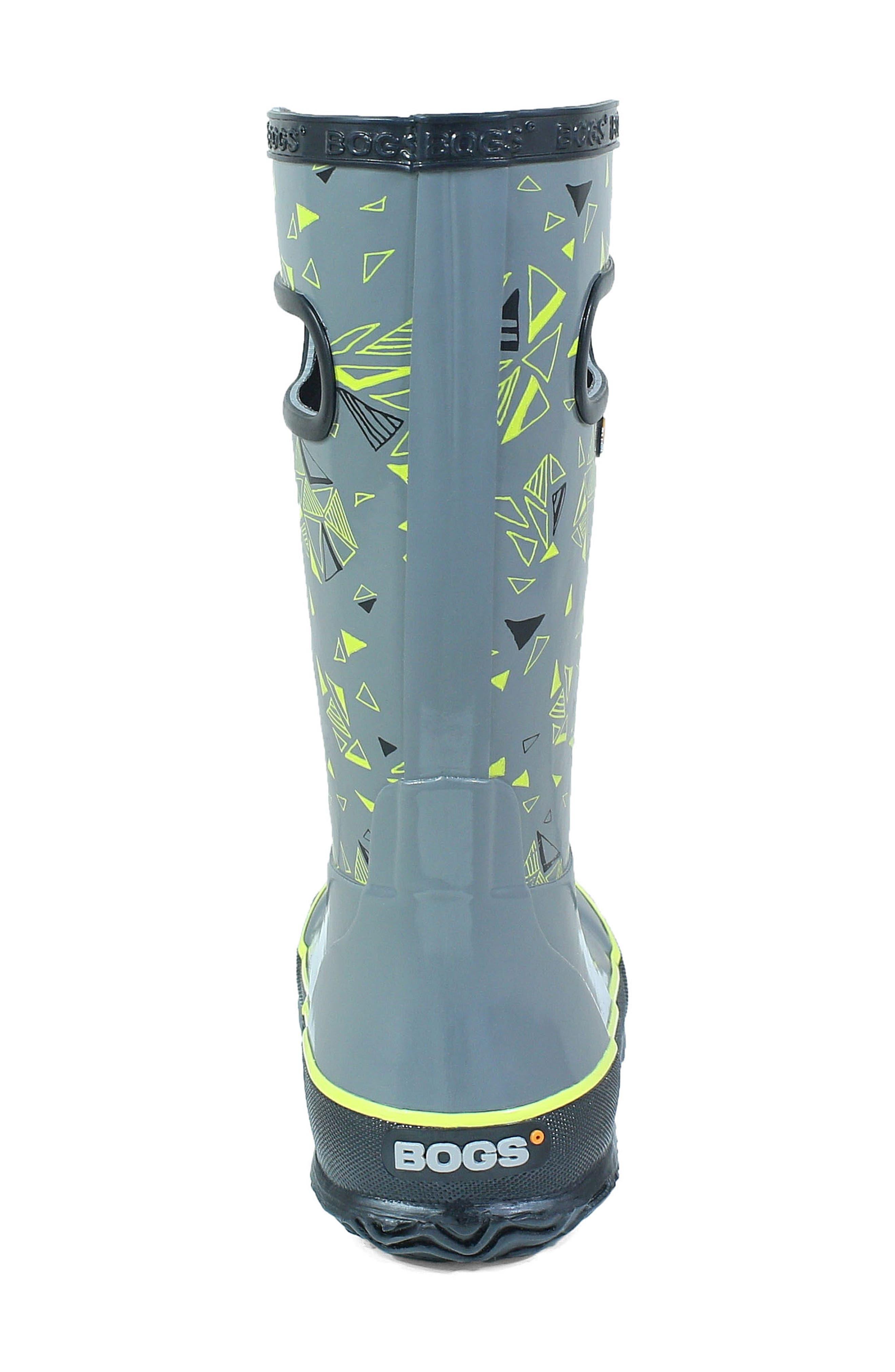 BOGS, Triego Waterproof Rain Boot, Alternate thumbnail 7, color, GRAY MULTI