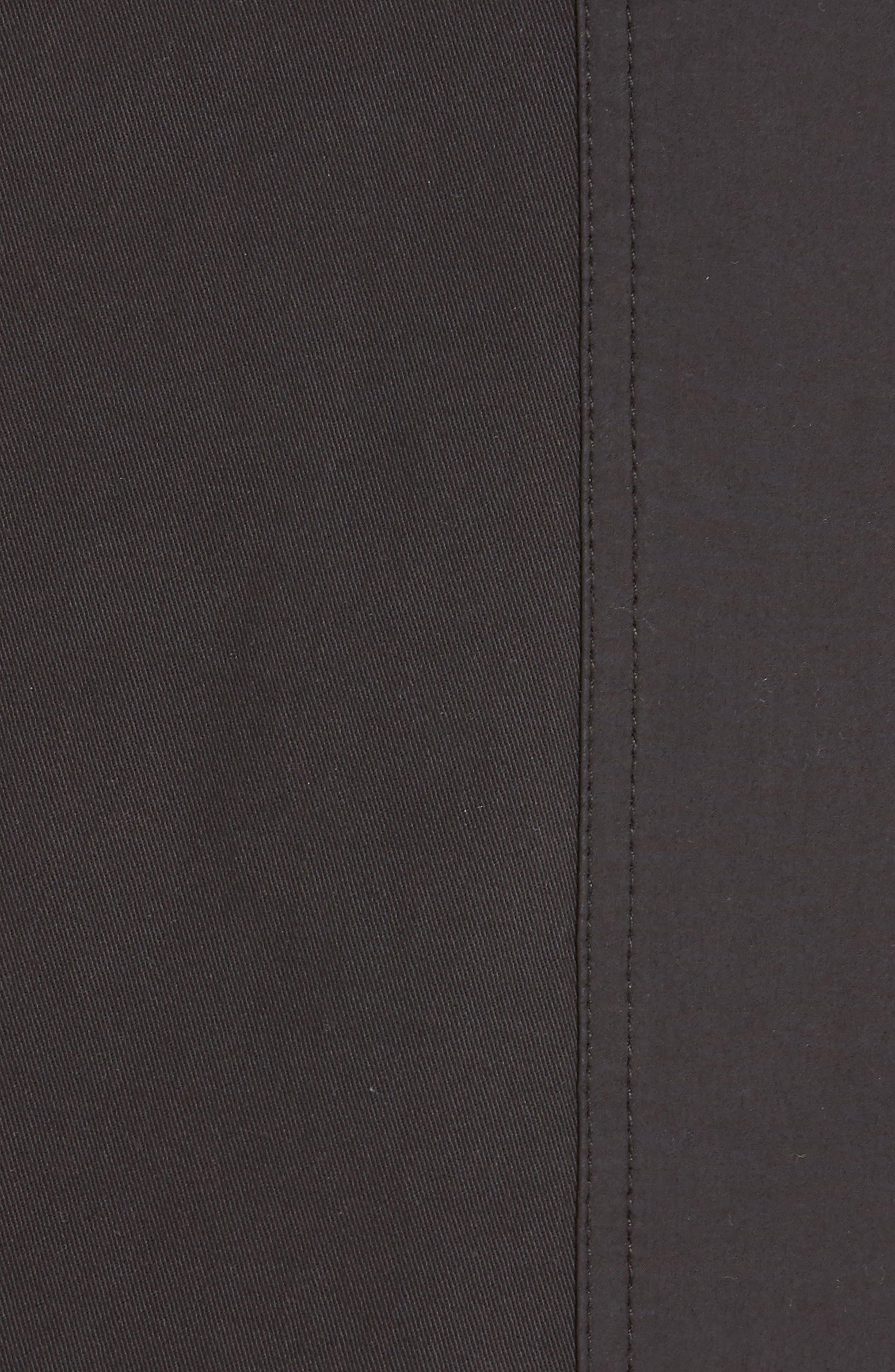 PROENZA SCHOULER, PSWL Belted Utility Skirt, Alternate thumbnail 5, color, BLACK