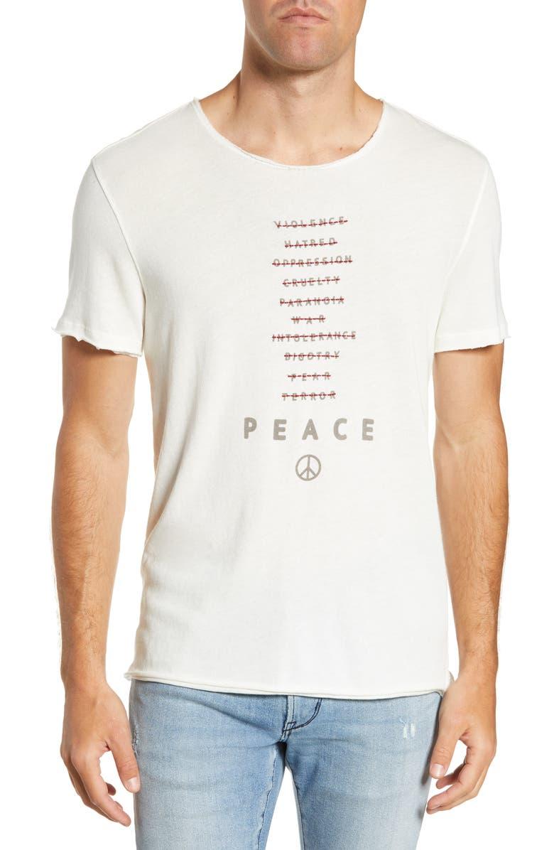 John Varvatos T-shirts PEACE WORDS T-SHIRT