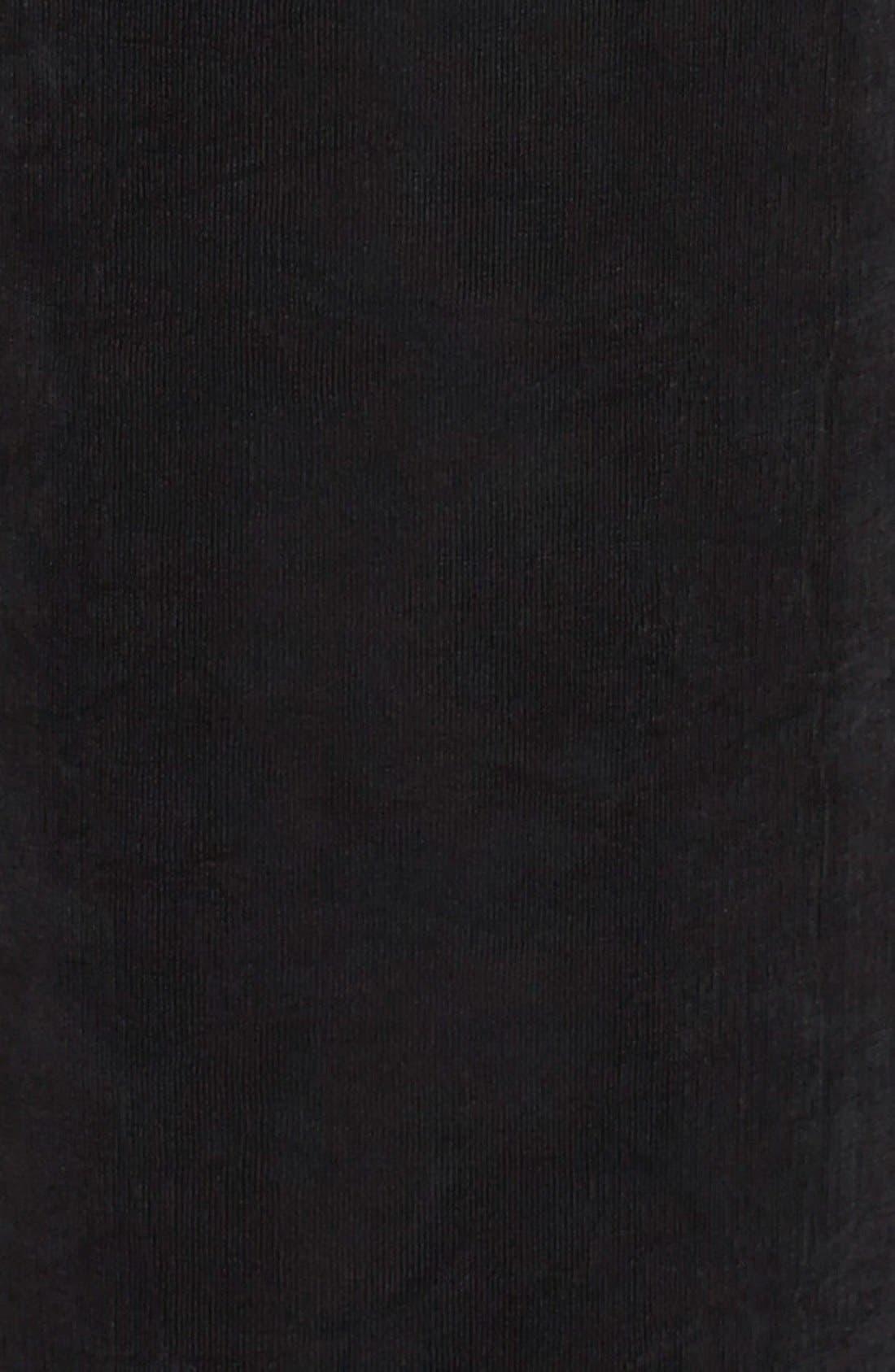VIKKI VI, High Rise Pull-On Pants, Alternate thumbnail 3, color, BLACK