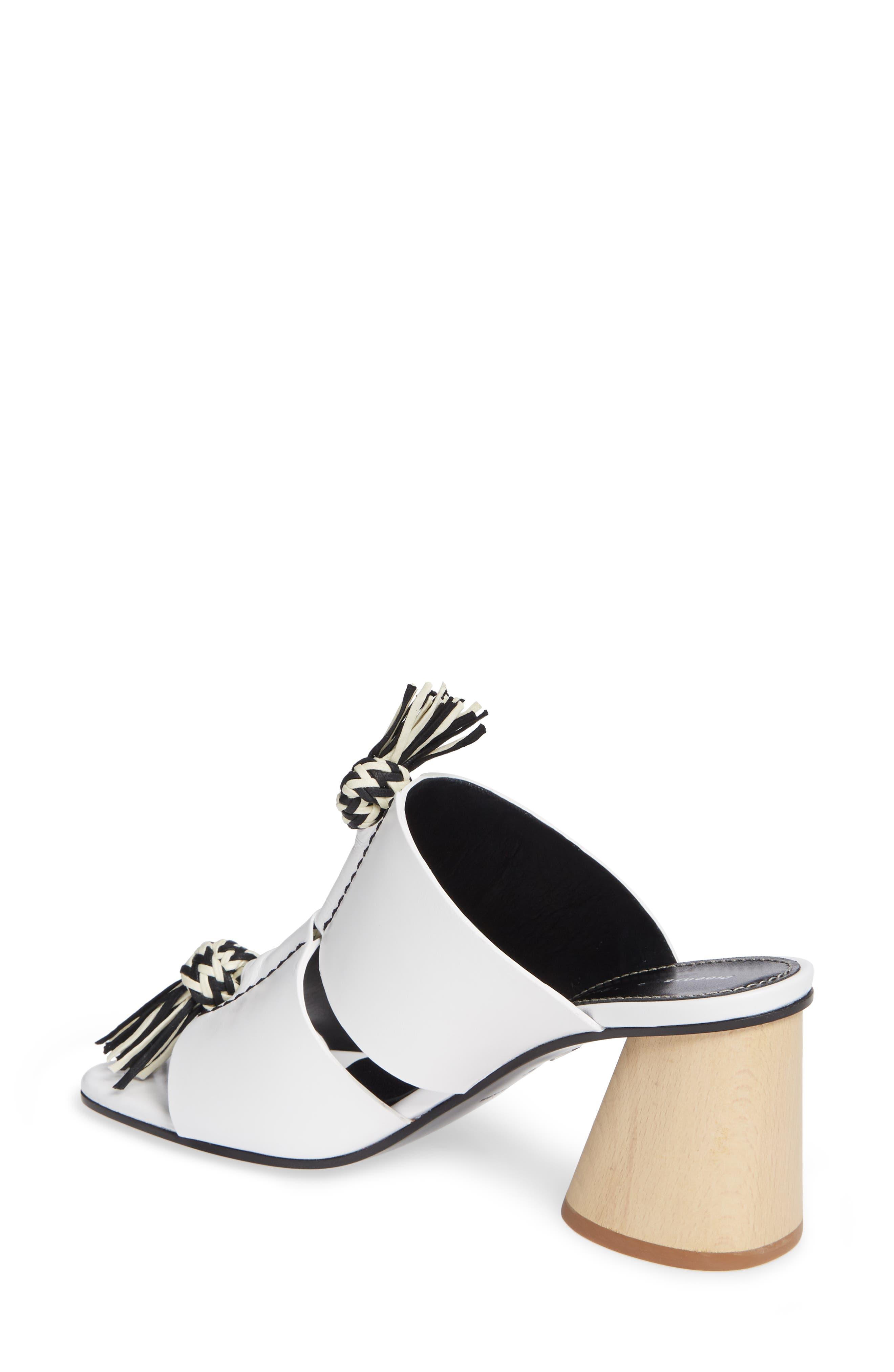 PROENZA SCHOULER, Cylinder Heel Slide Sandal, Alternate thumbnail 2, color, WHITE