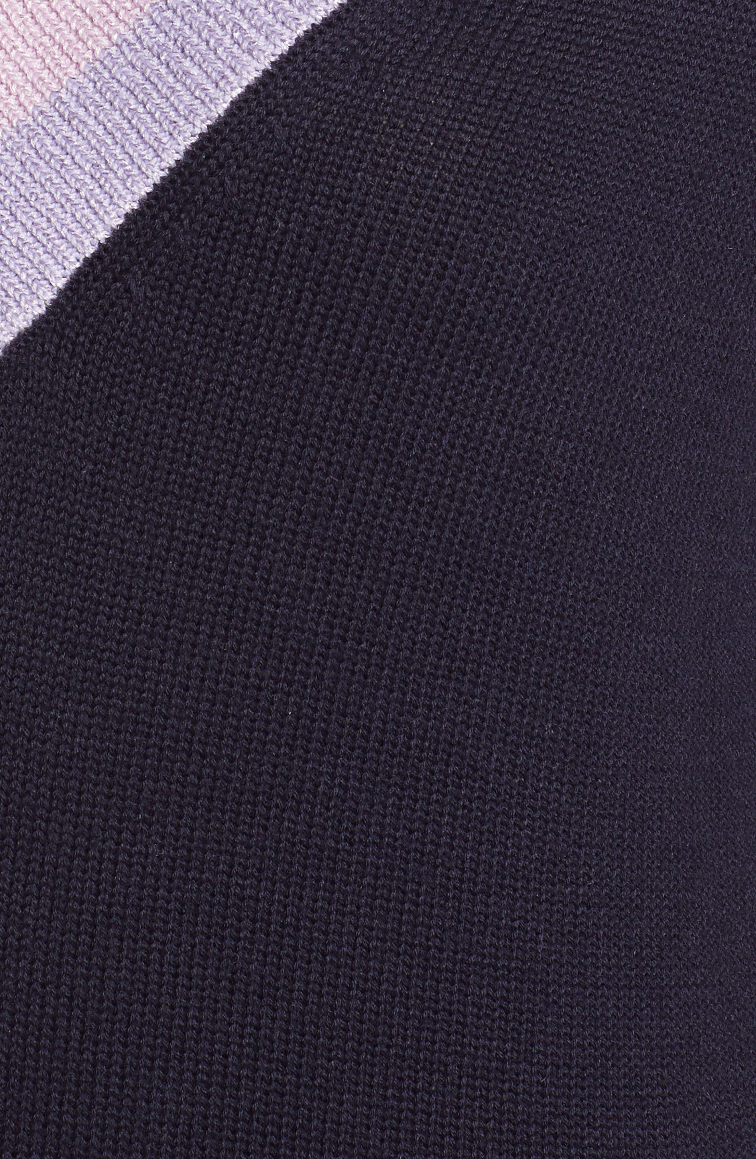 HALOGEN<SUP>®</SUP>, Shimmer V-Neck Sweater, Alternate thumbnail 5, color, NAVY NIGHT
