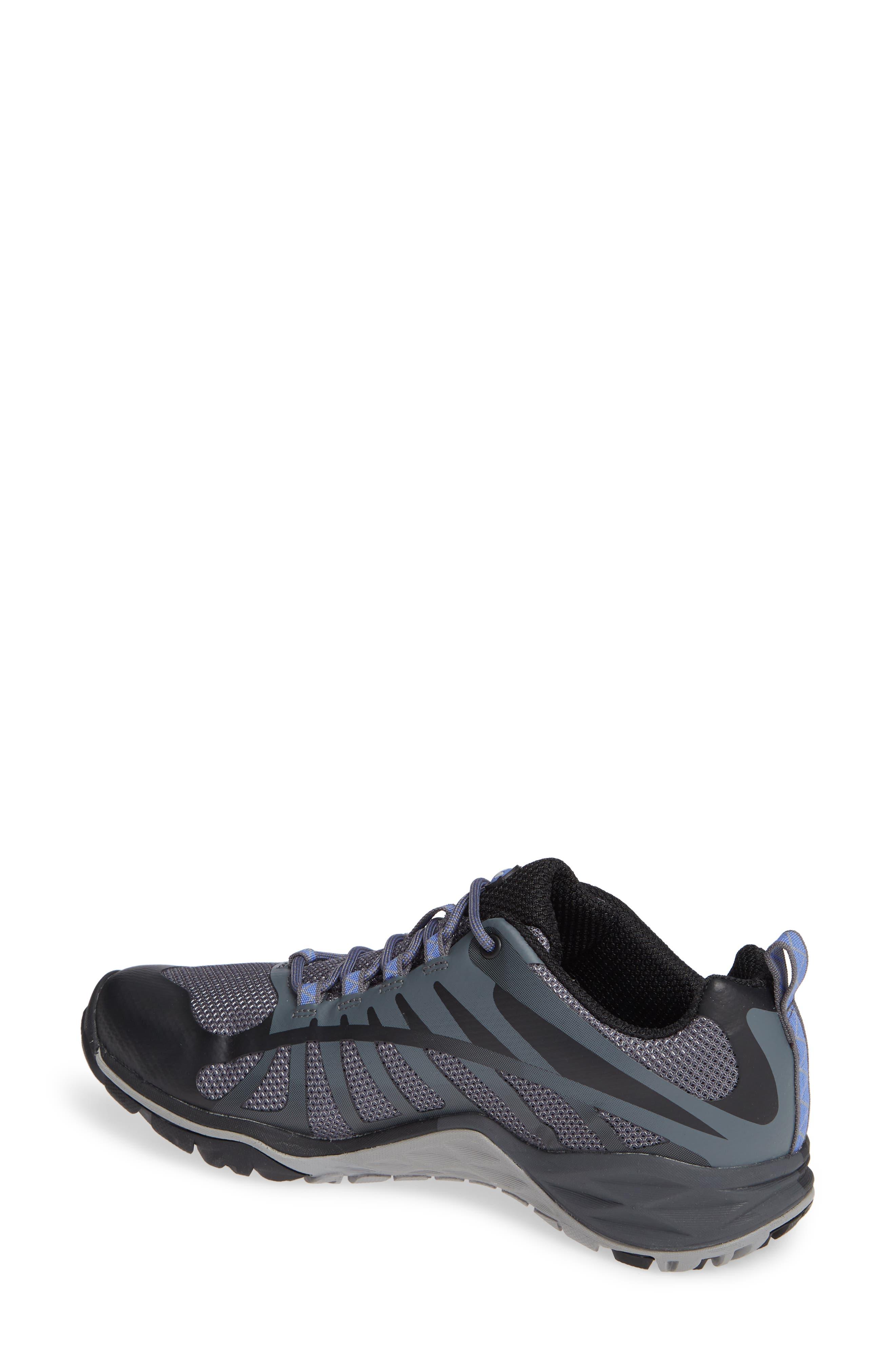 MERRELL, Siren Edge Q2 Hiking Shoe, Alternate thumbnail 2, color, BLACK FABRIC