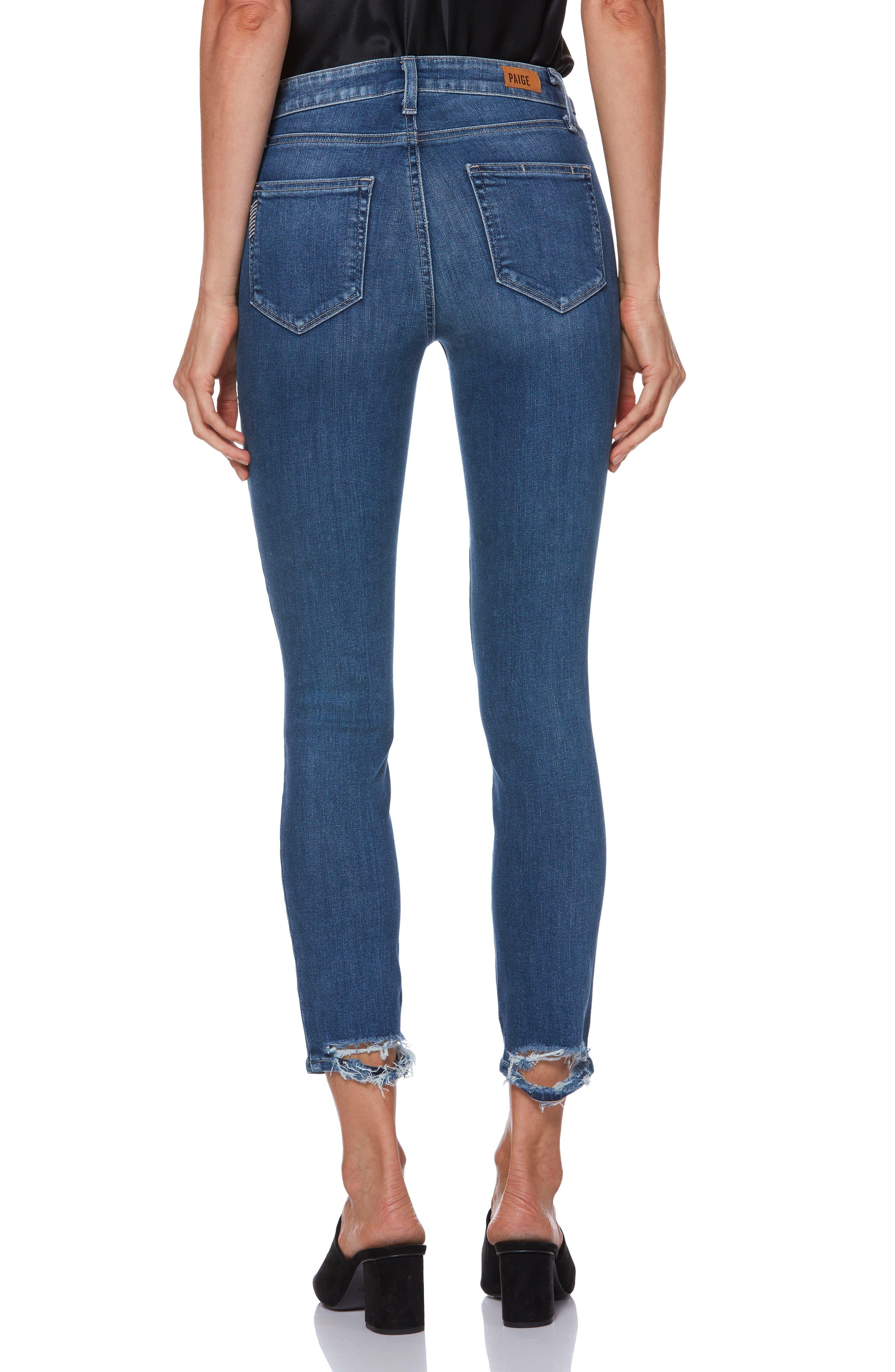 PAIGE, Hoxton Transcend Vintage High Waist Crop Skinny Jeans, Alternate thumbnail 2, color, 400