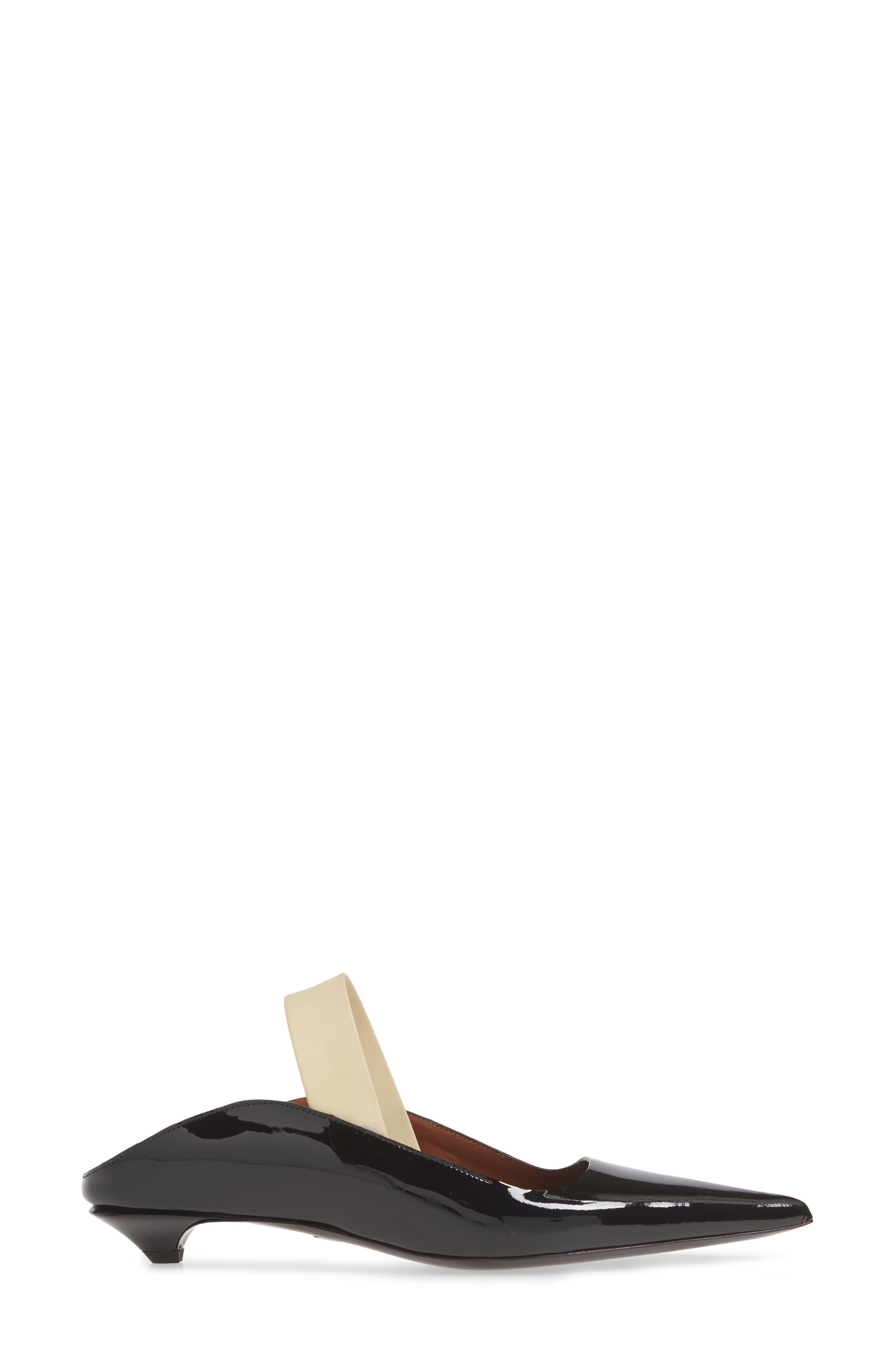 PROENZA SCHOULER, Wave Pointy Toe Pump, Alternate thumbnail 3, color, BLACK