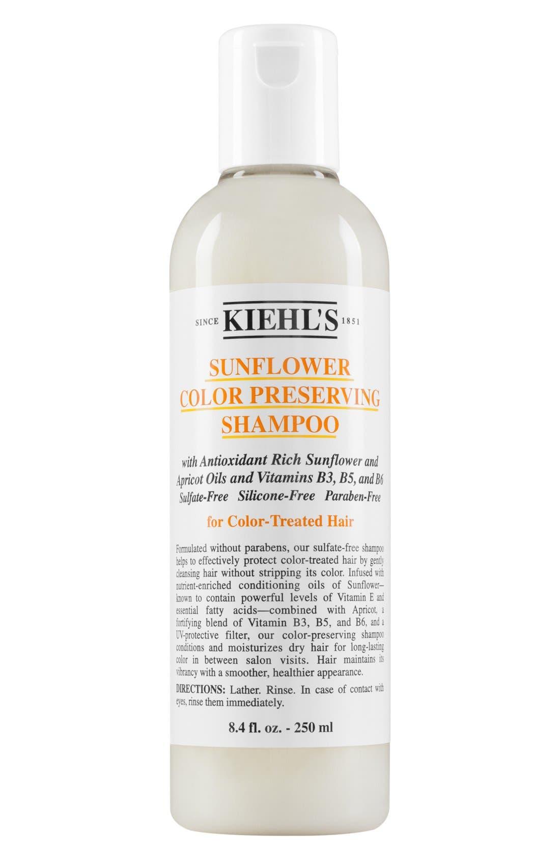 KIEHL'S SINCE 1851, Sunflower Color Preserving Shampoo, Alternate thumbnail 3, color, NO COLOR
