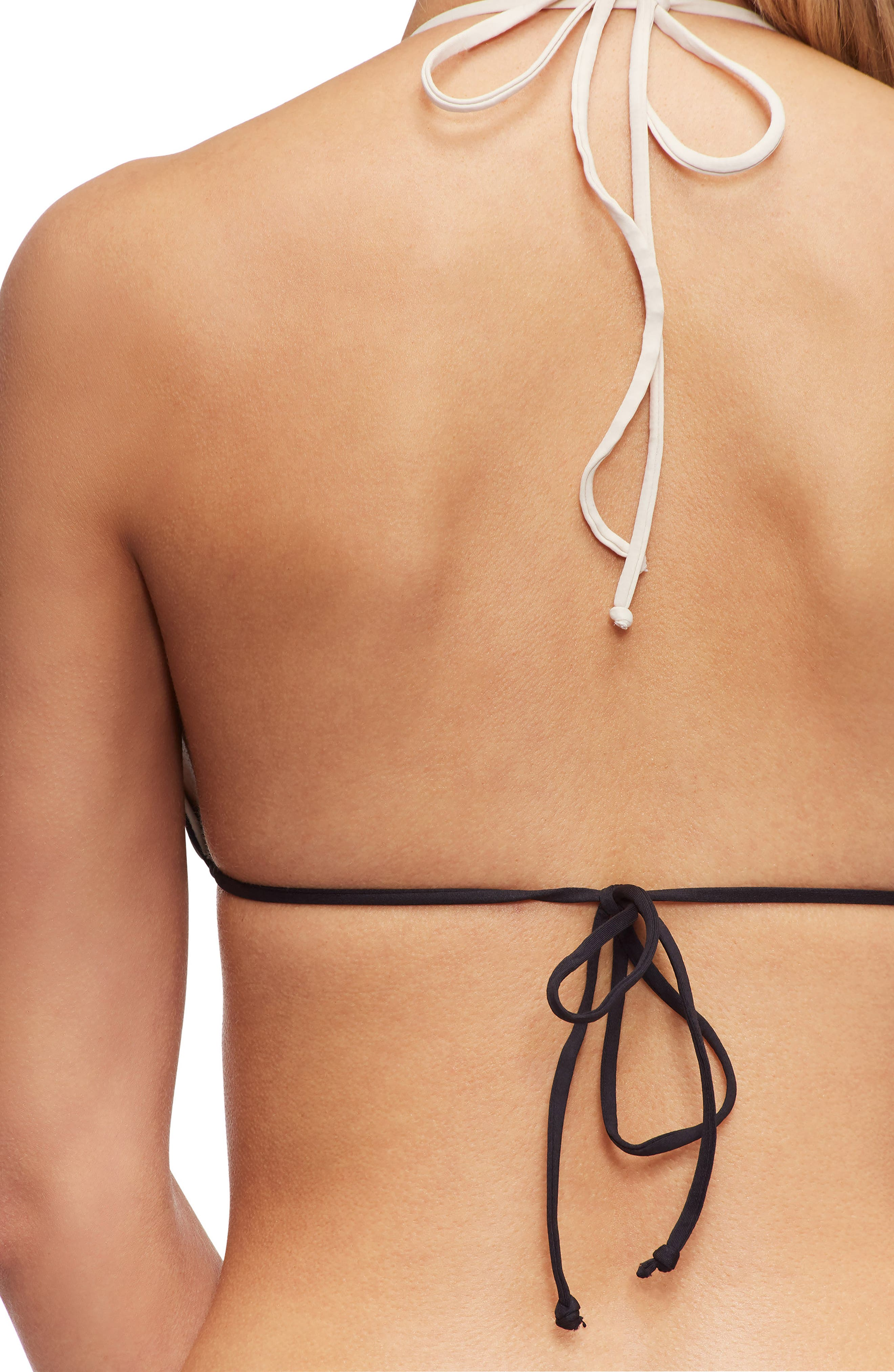 TAVIK, Swimwear Lea Triangle Bikini Top, Alternate thumbnail 5, color, TAPIOCA/EVENING BLUE