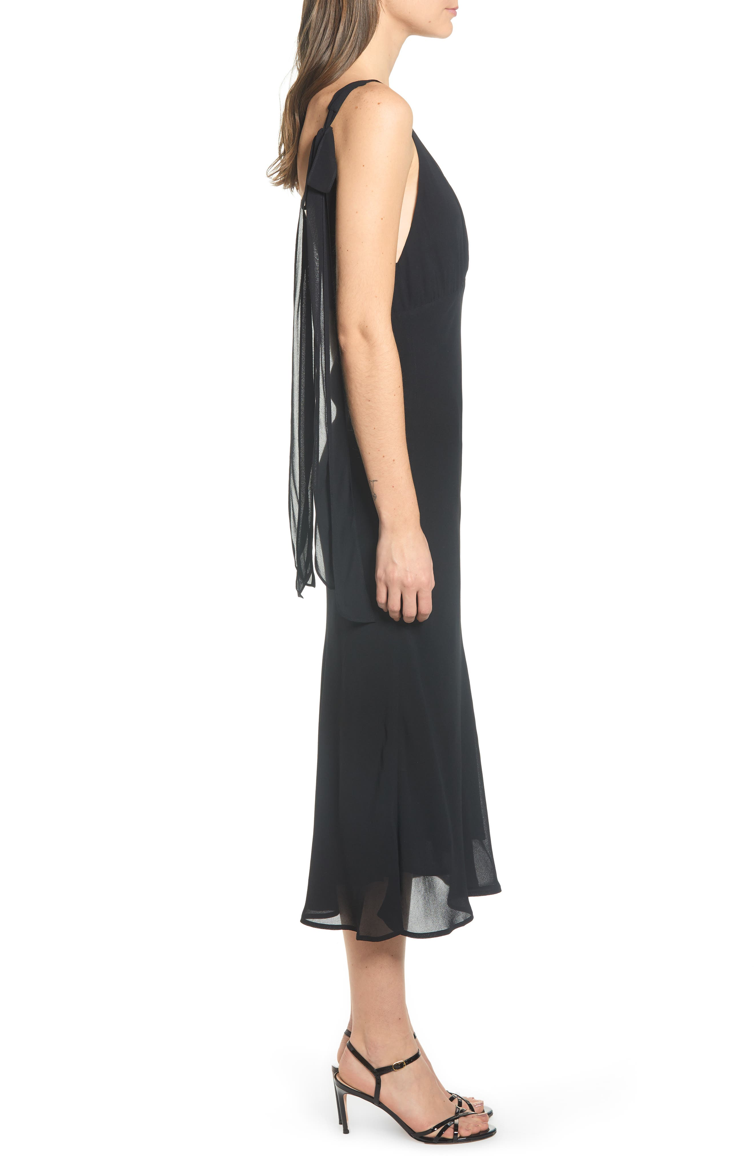 REFORMATION, Venezia Dress, Alternate thumbnail 4, color, BLACK
