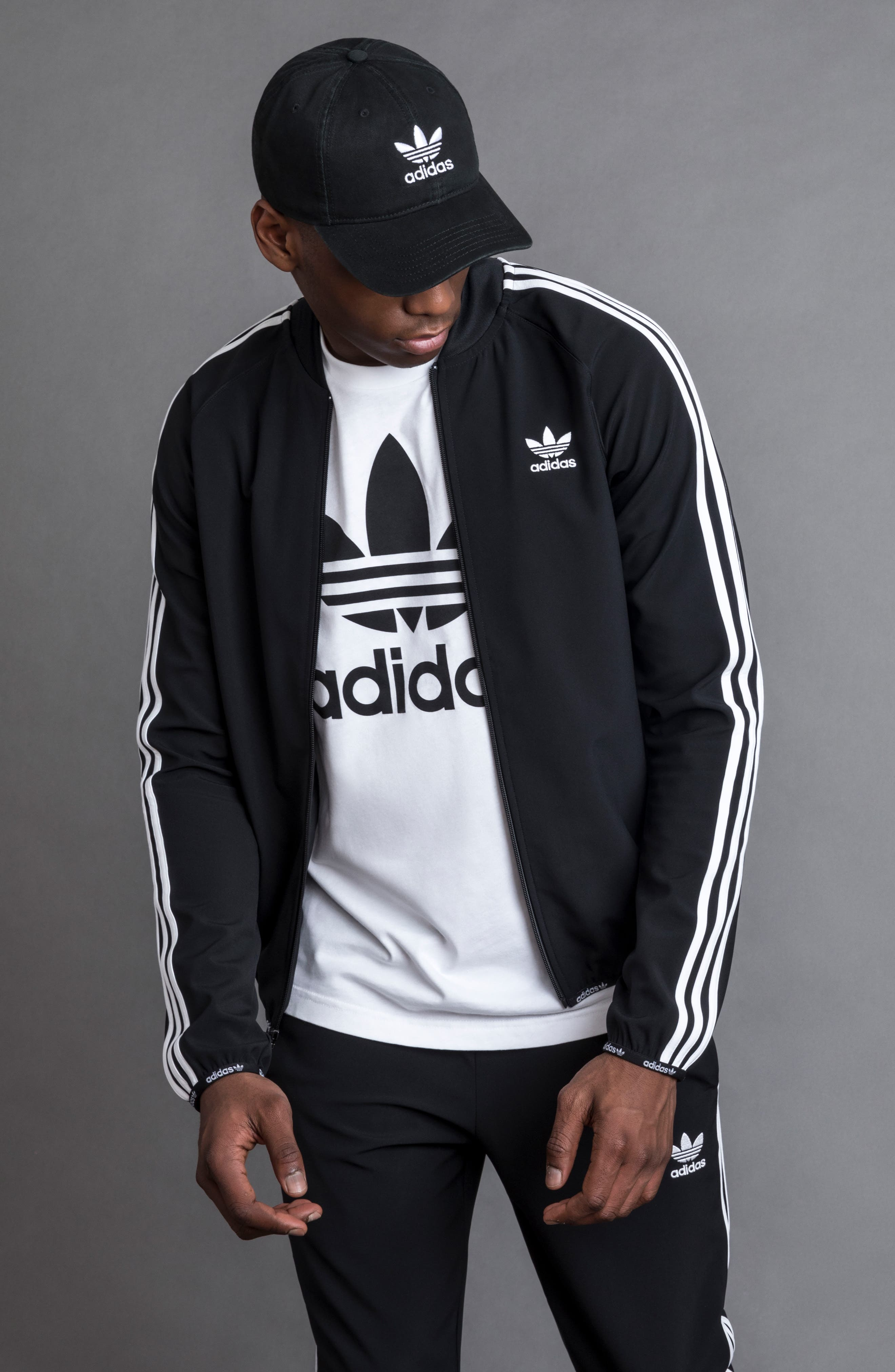 ADIDAS ORIGINALS, Relaxed Baseball Cap, Alternate thumbnail 5, color, NAVY