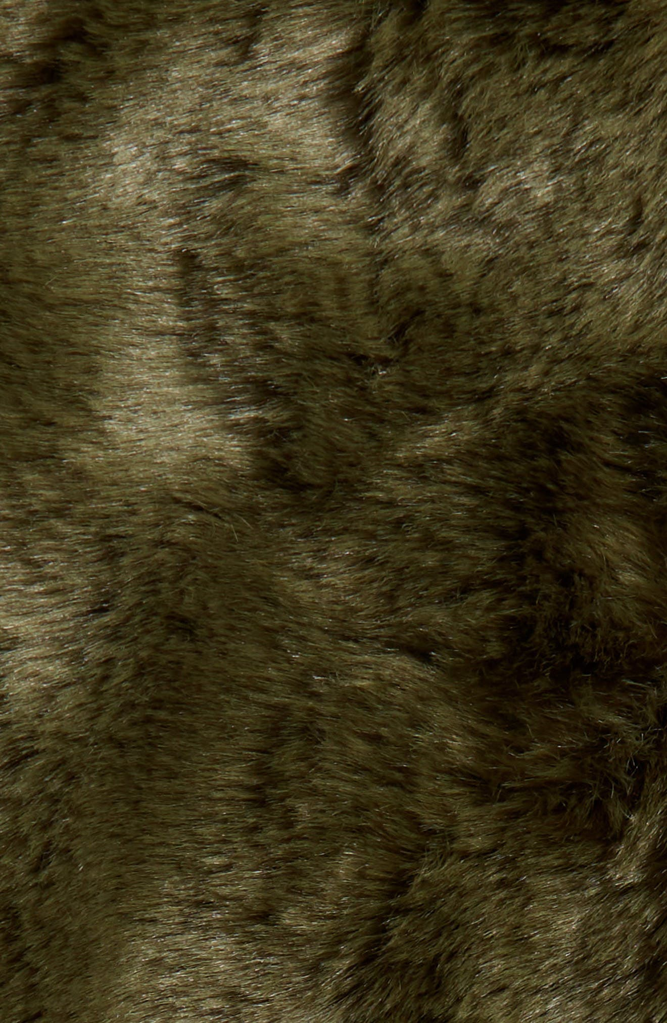 NORDSTROM AT HOME, Cuddle Up Faux Fur Throw Blanket, Alternate thumbnail 3, color, GREEN CYPRESS