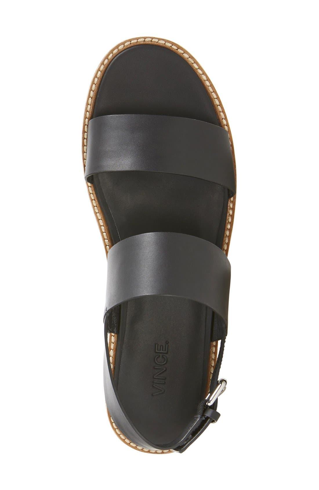 VINCE, 'Mana' Flatform Sandal, Alternate thumbnail 2, color, 001