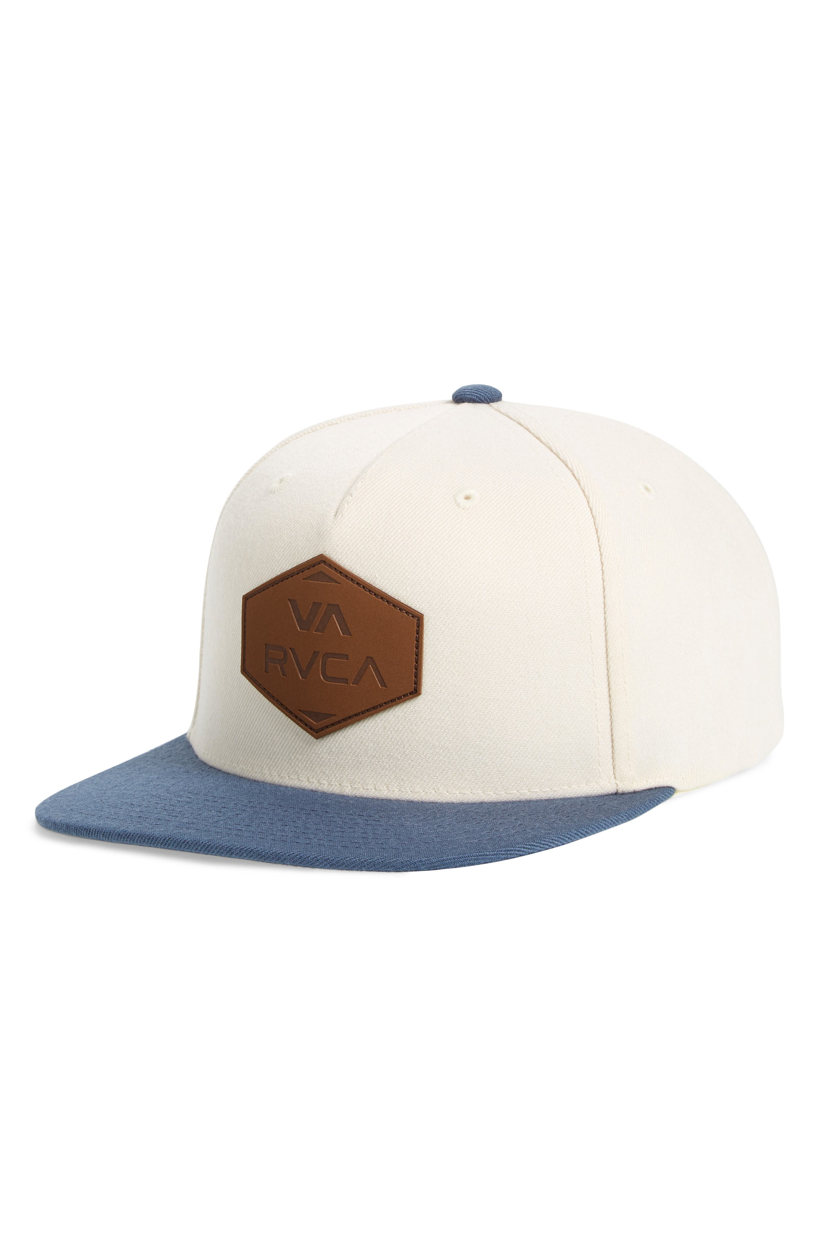 RVCA What Logo Patch Baseball Cap, Main, color, 100