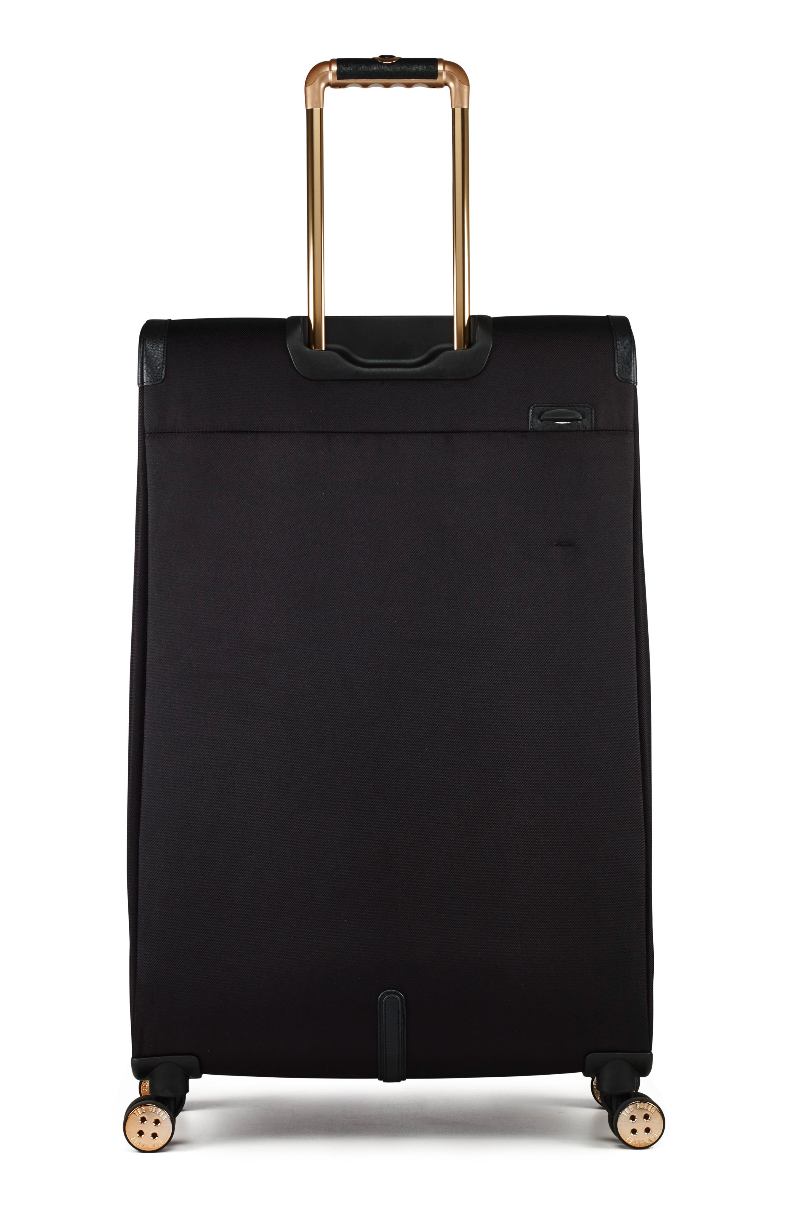 TED BAKER LONDON, 32-Inch Trolley Packing Case, Alternate thumbnail 4, color, BLACK