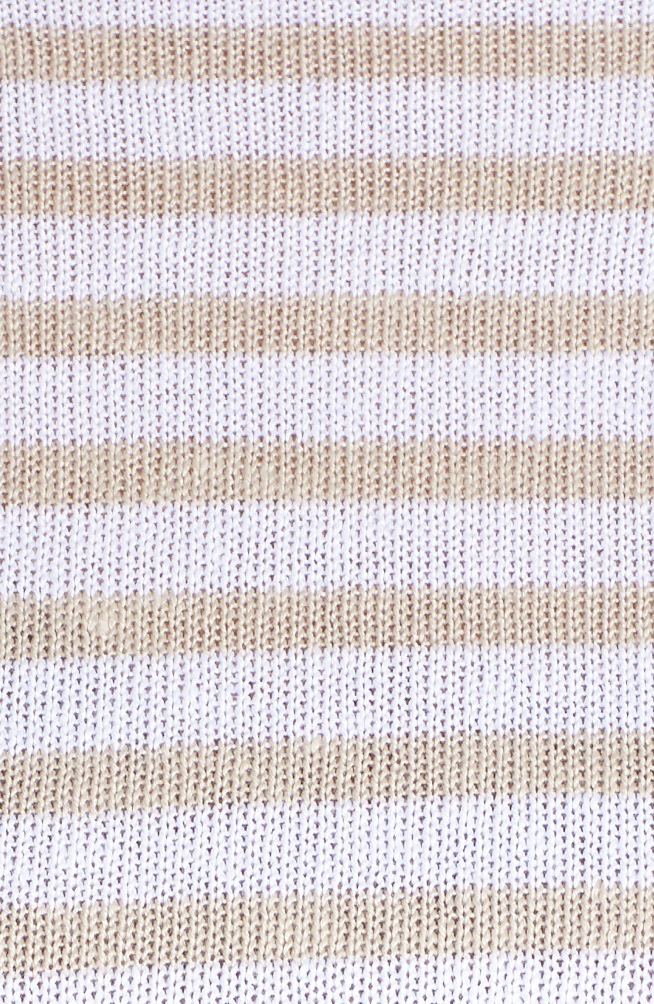 EILEEN FISHER, Stripe Organic Linen Sweater, Alternate thumbnail 5, color, WHITE NATURAL