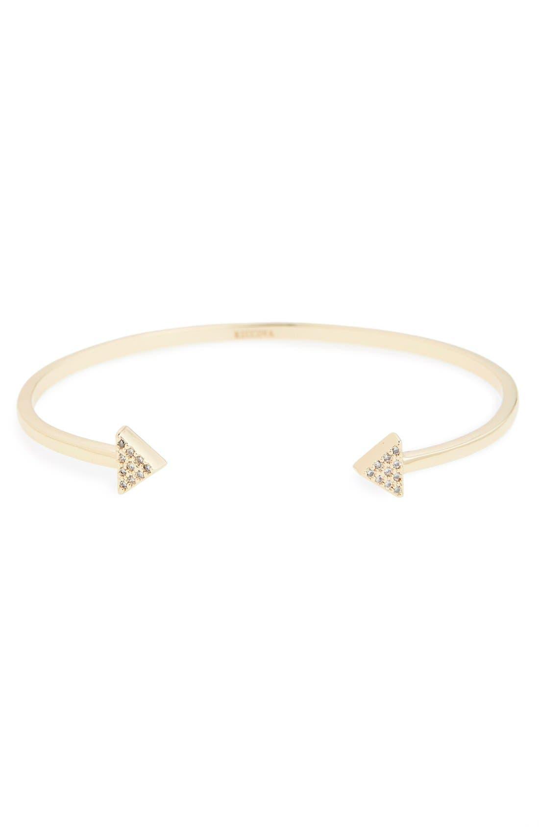 RICCOVA, Triangle Cuff Bracelet, Alternate thumbnail 2, color, 710