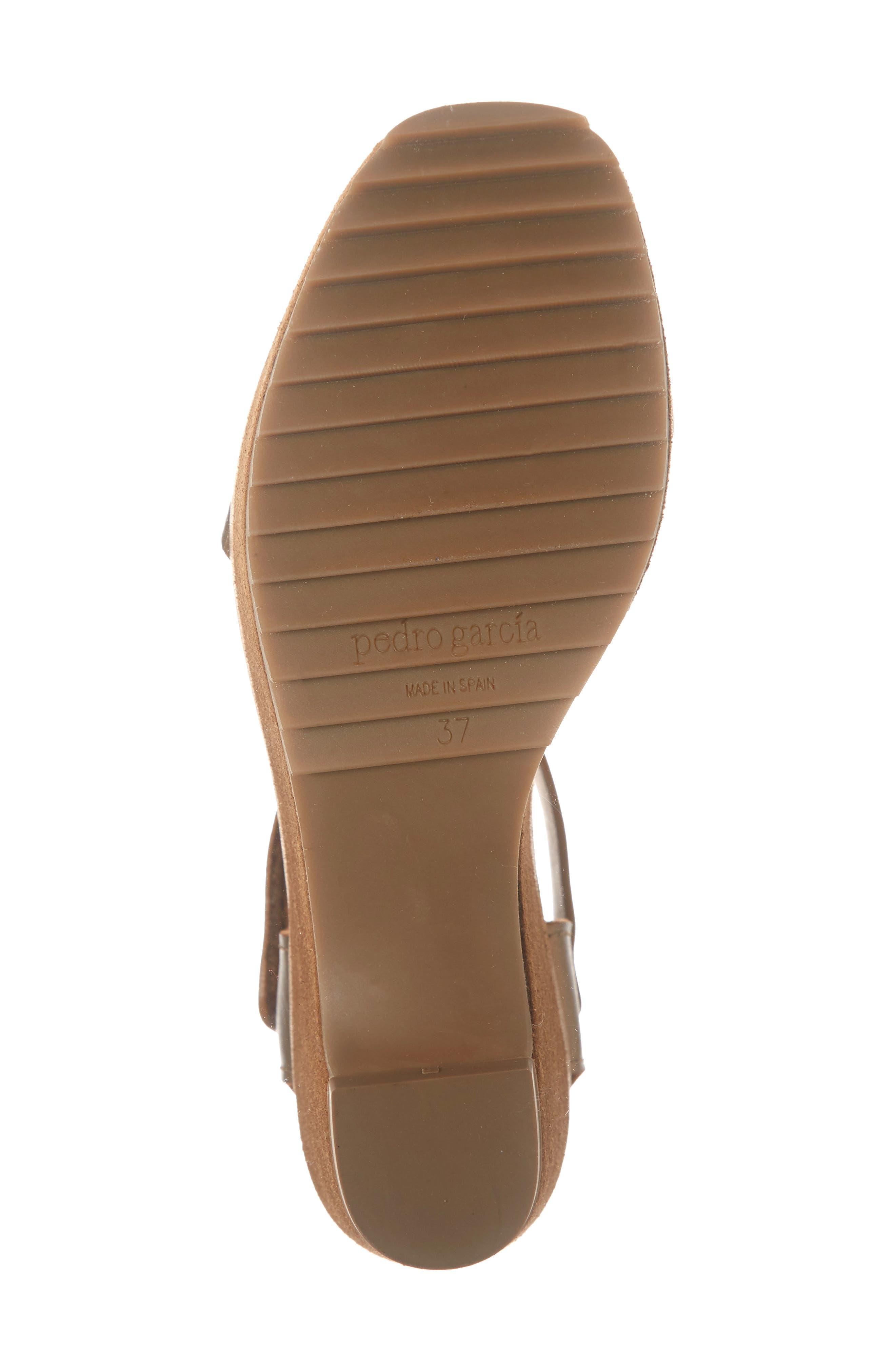 PEDRO GARCIA, Franses Flatform Sandal, Alternate thumbnail 6, color, TOBACCO CERVO LAME