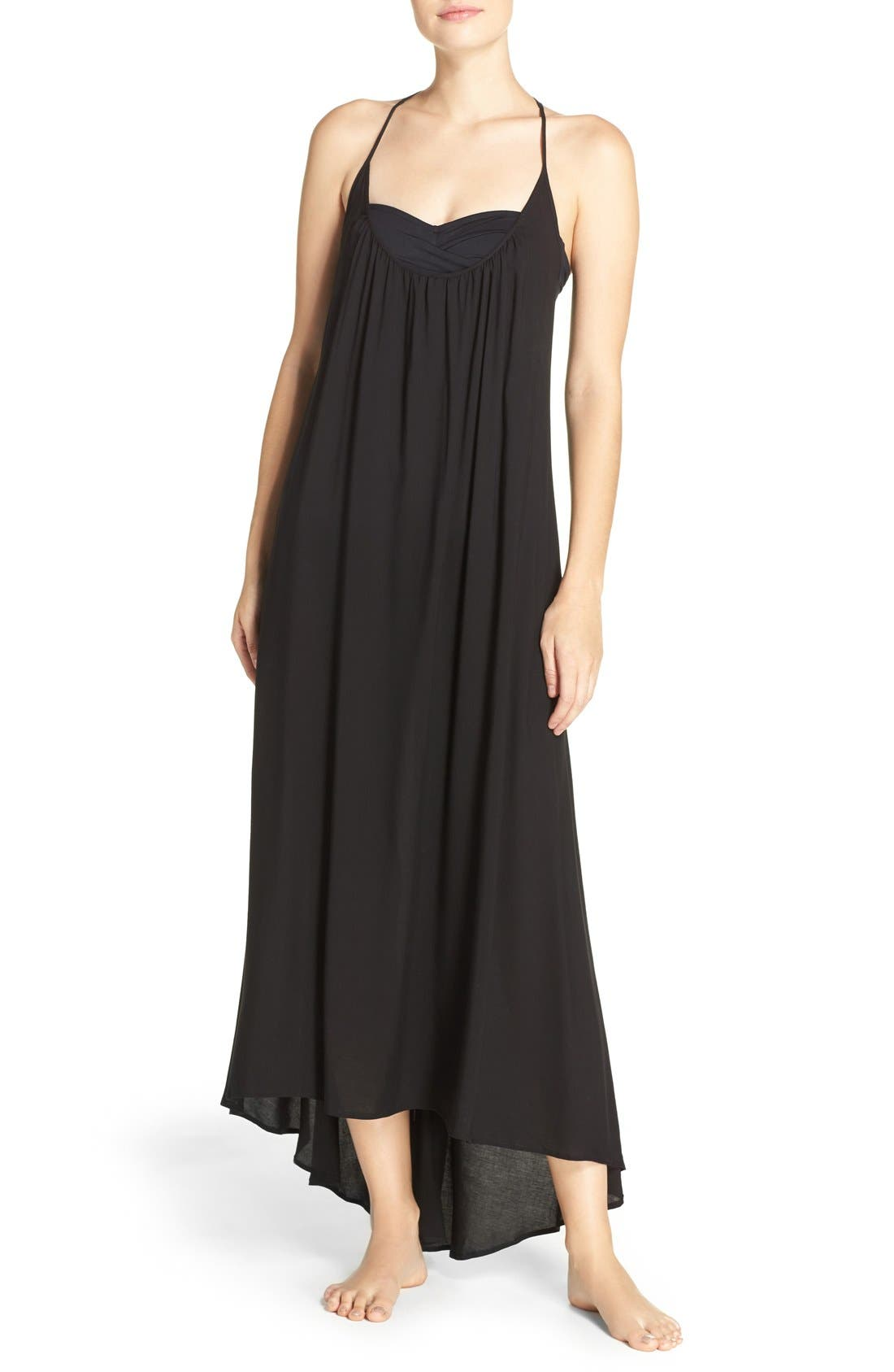 VINCE CAMUTO Cover-Up Maxi Dress, Main, color, 001