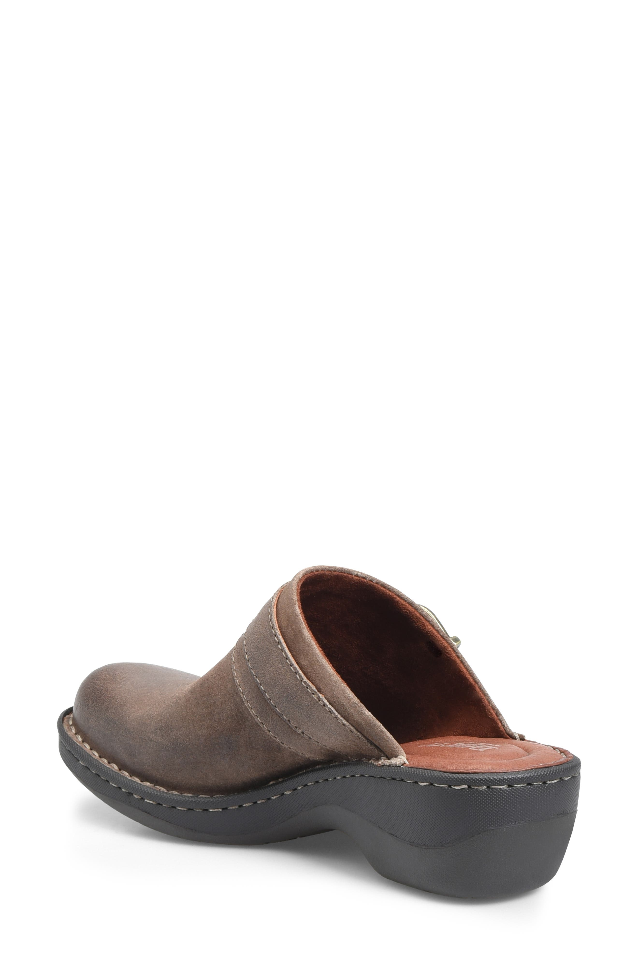 BØRN, Avoca Clog, Alternate thumbnail 2, color, TAUPE DISTRESSED LEATHER