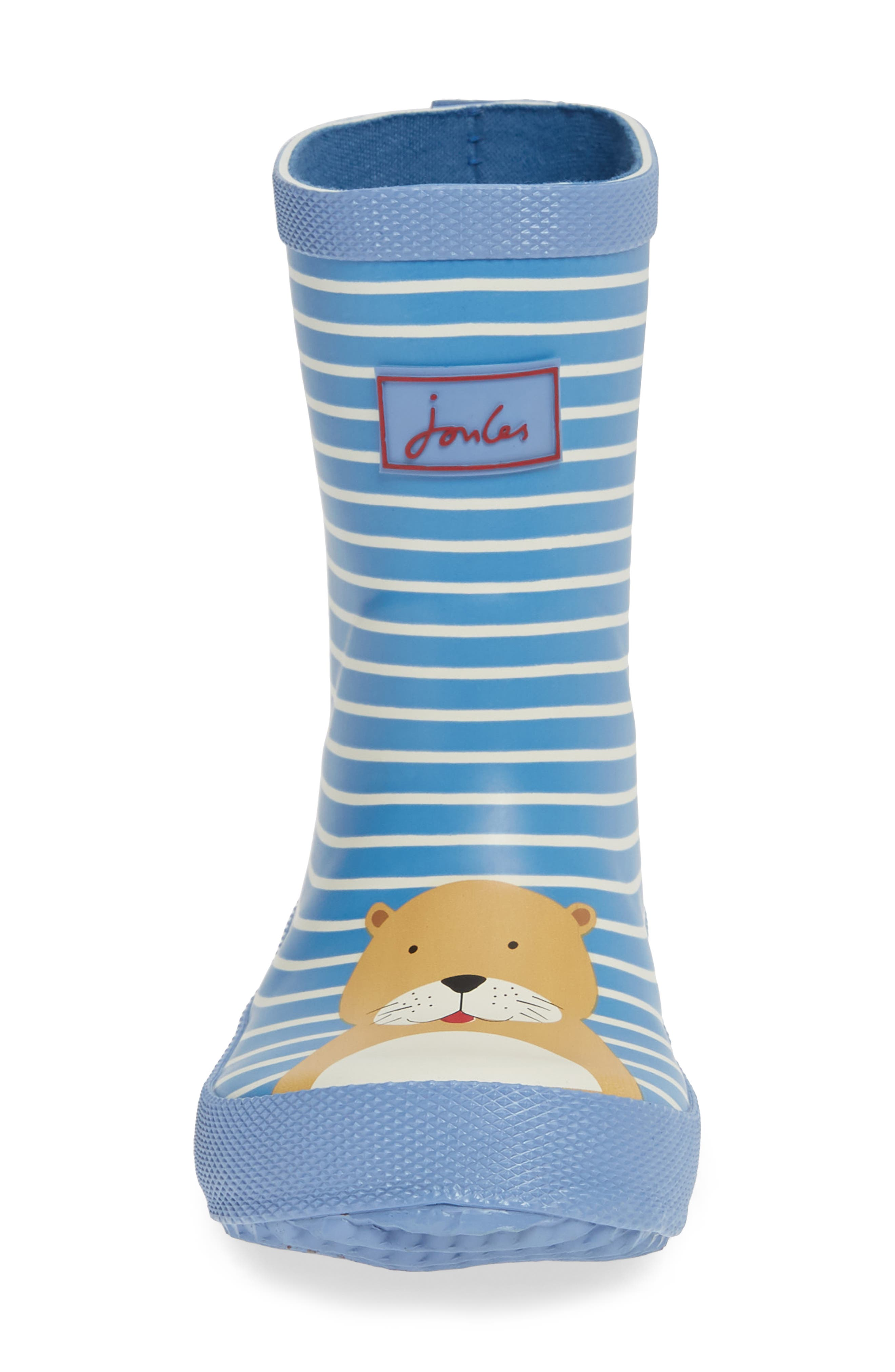 JOULES, Print Welly Rain Boot, Alternate thumbnail 4, color, 430