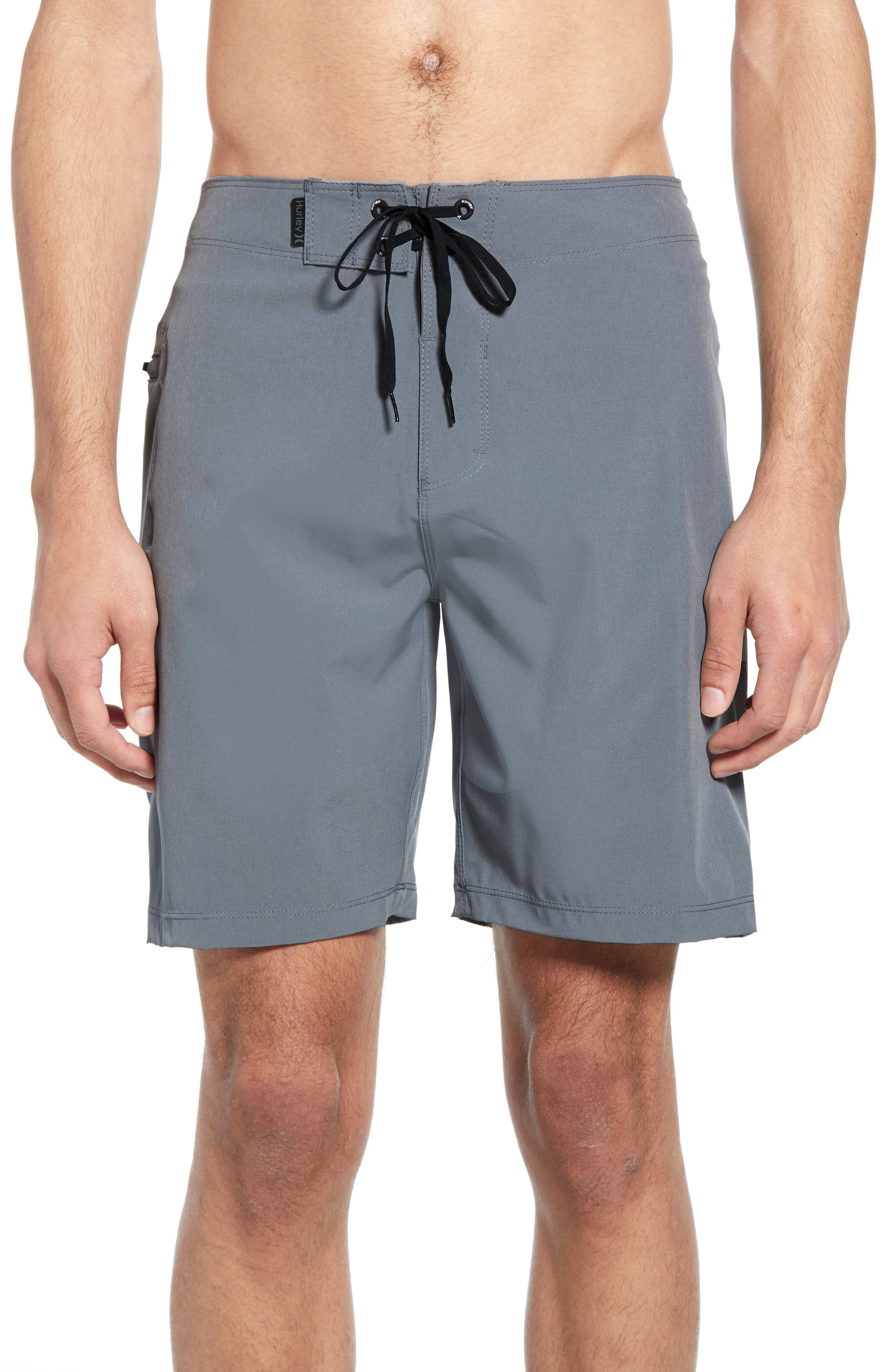 HURLEY Phantom One & Only Board Shorts, Main, color, COOL GREY