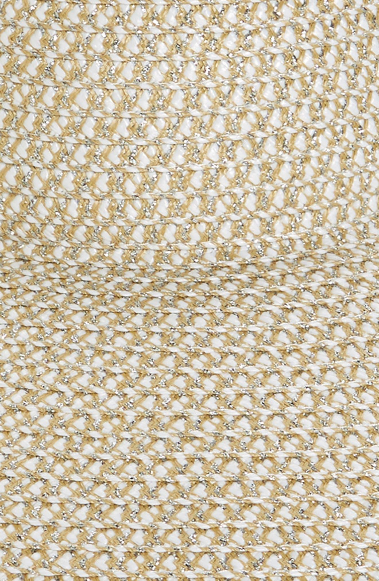 ERIC JAVITS, Floppy Straw Hat, Alternate thumbnail 2, color, ICE