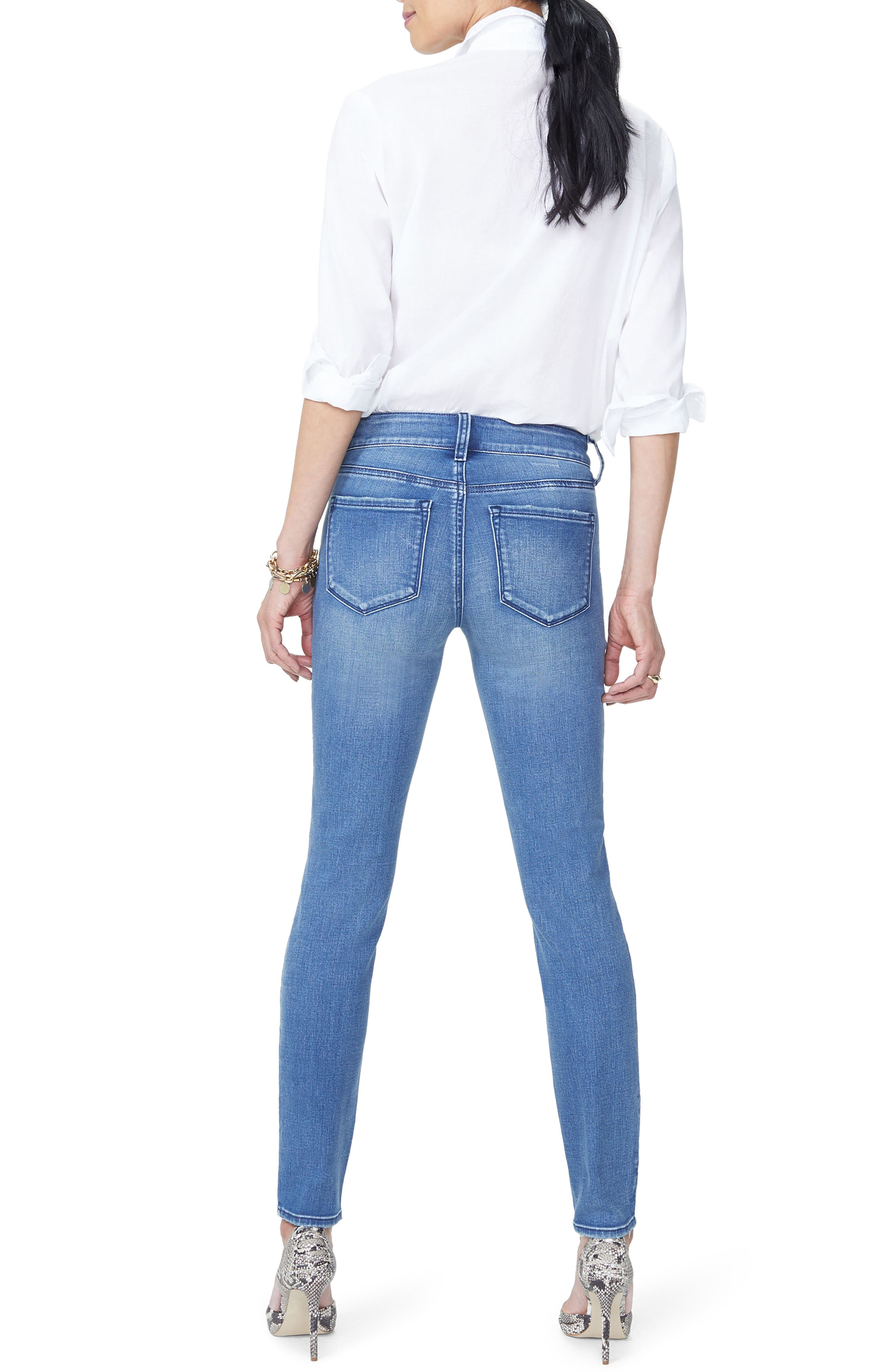 NYDJ, Ami High Waist Stretch Skinny Jeans, Alternate thumbnail 2, color, 410