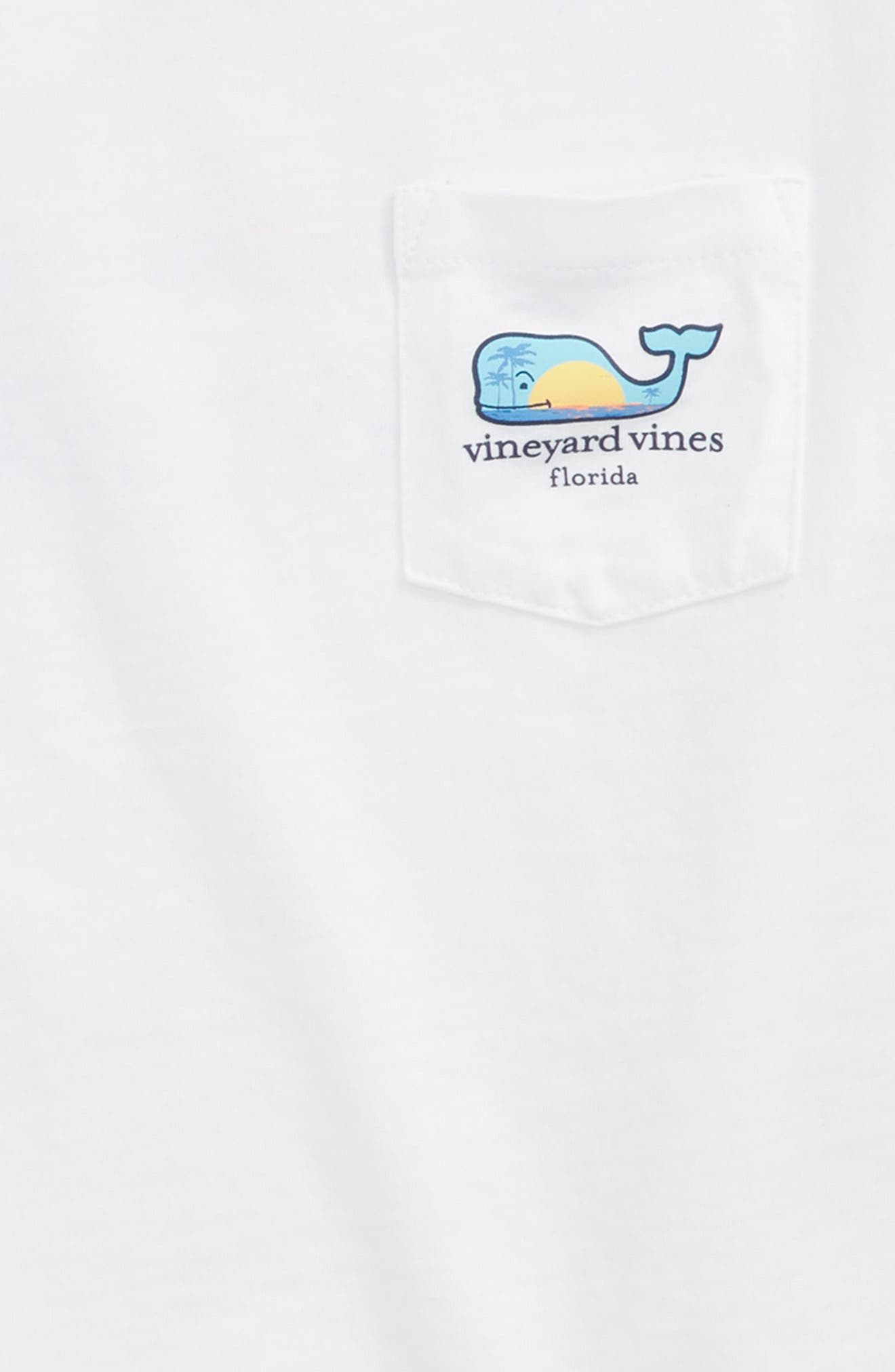 VINEYARD VINES, Florida Whale Pocket T-Shirt, Alternate thumbnail 3, color, WHITE CAP