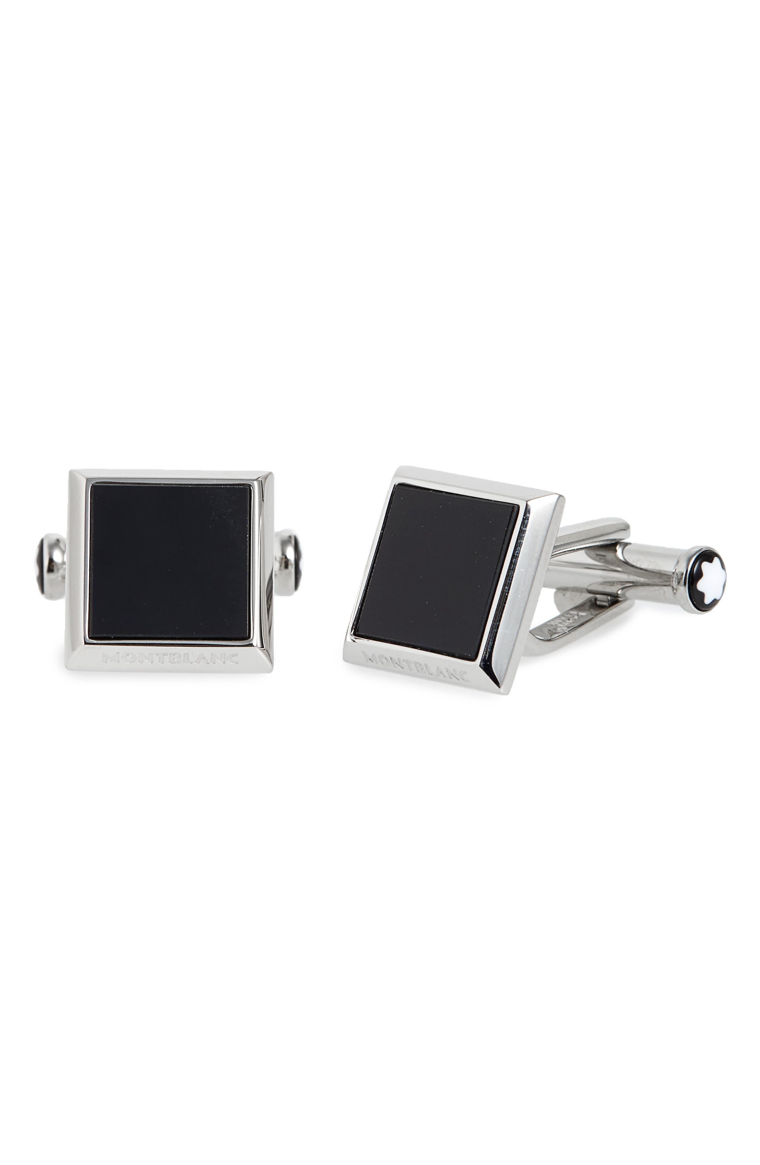 MONTBLANC Onyx Cuff Links, Main, color, 040