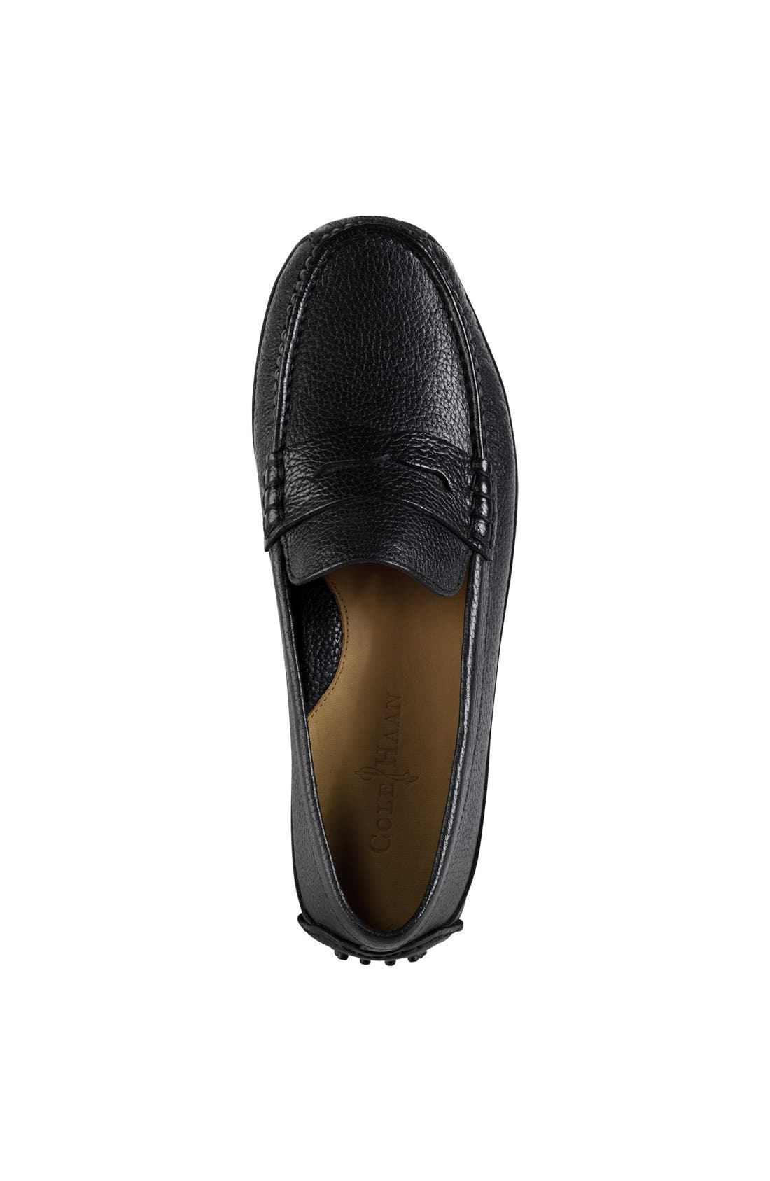 COLE HAAN, 'Grant Canoe' Penny Loafer, Alternate thumbnail 2, color, 001