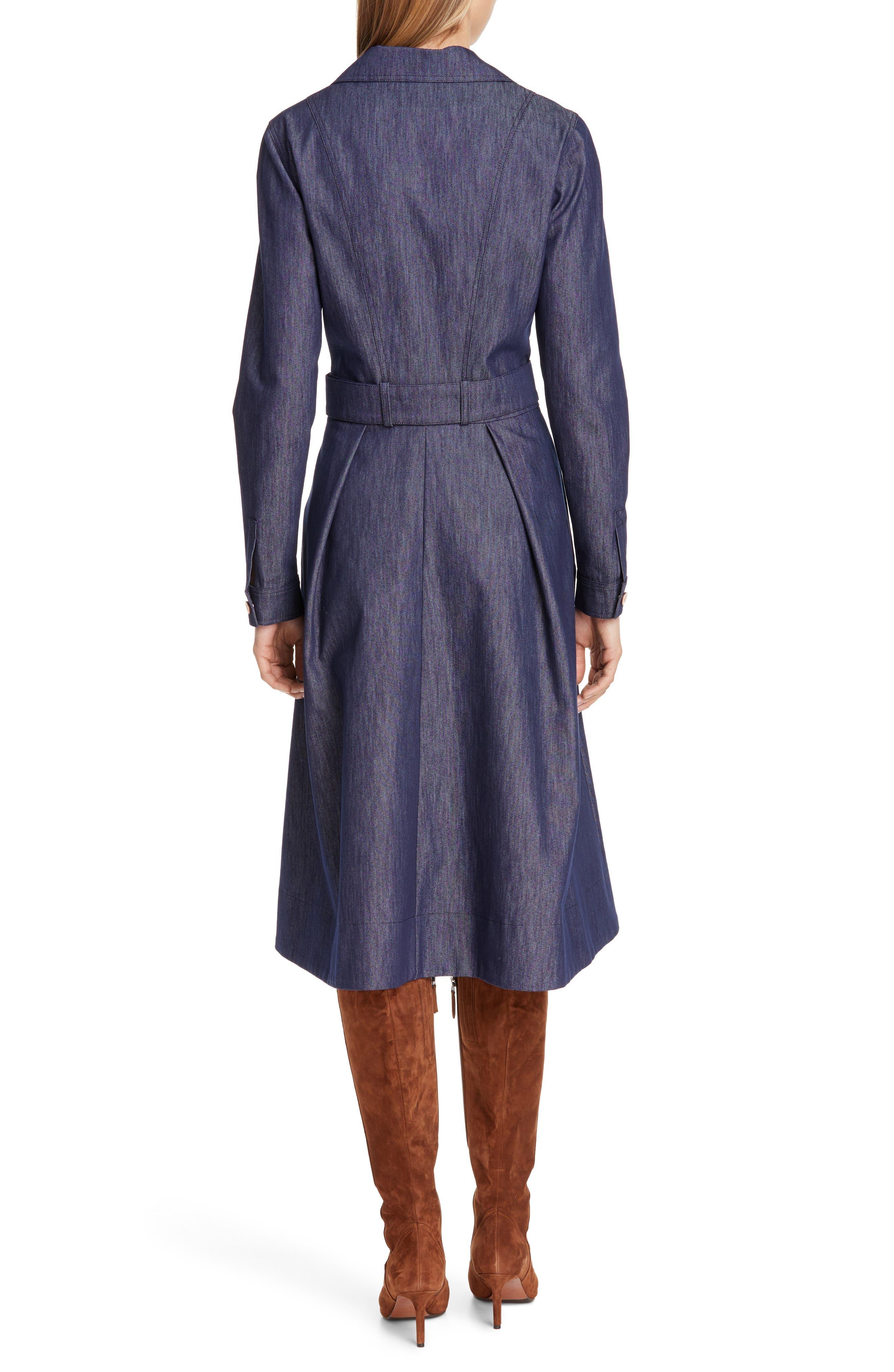 TOMMY X ZENDAYA, Belted Denim Dress, Alternate thumbnail 2, color, DENIM BLUE